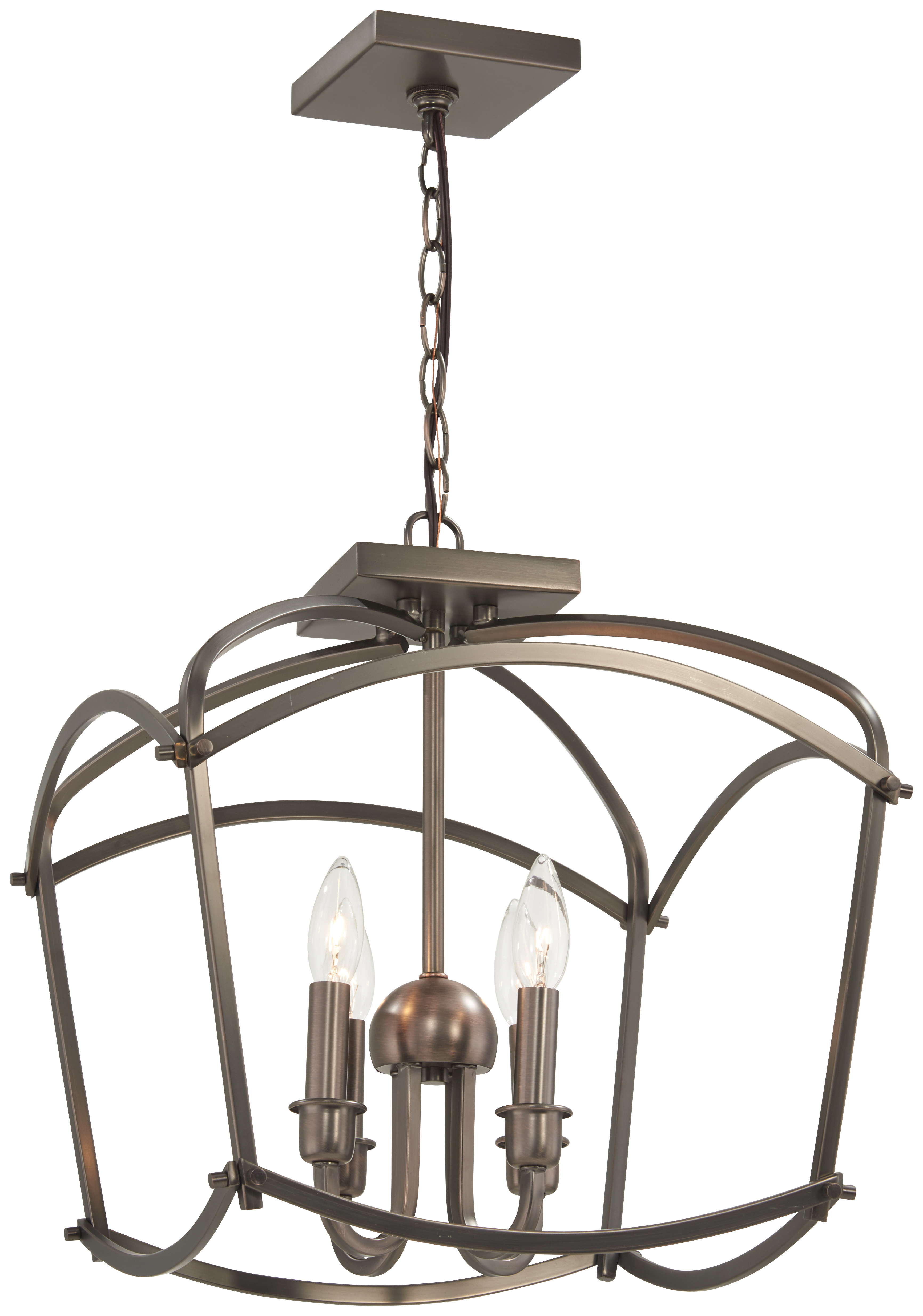 Taya 4 Light Lantern Square Pendants Inside Popular Maughan 4 Light Lantern Pendant (View 15 of 20)