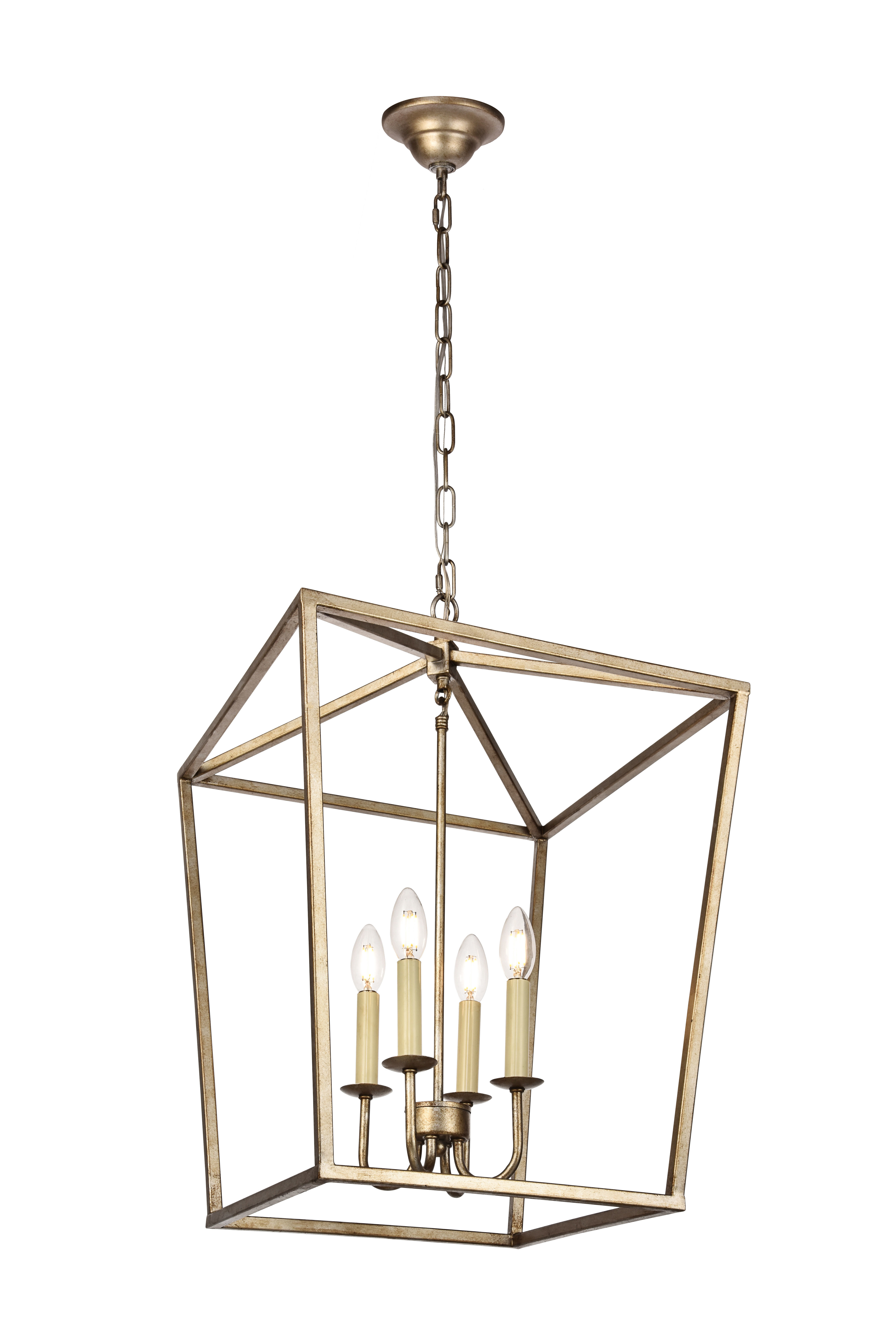 Taya 4 Light Lantern Square Pendants With Well Liked Andover Mills Finnick 4 Light Foyer Pendant (View 17 of 20)