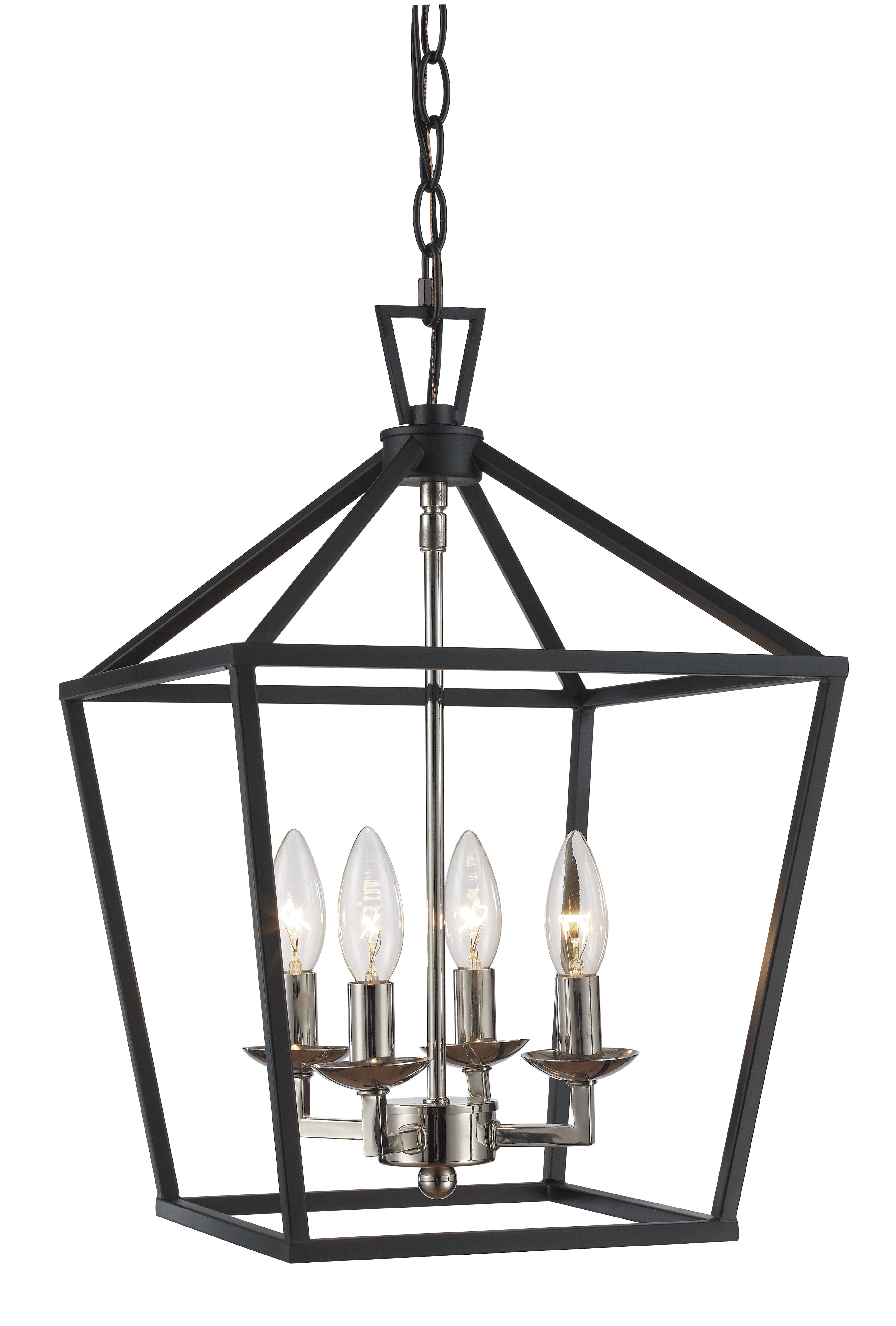 Taya 4 Light Lantern Square Pendants With Widely Used Laurel Foundry Modern Farmhouse Carmen 4 Light Lantern Geometric Pendant (View 20 of 20)