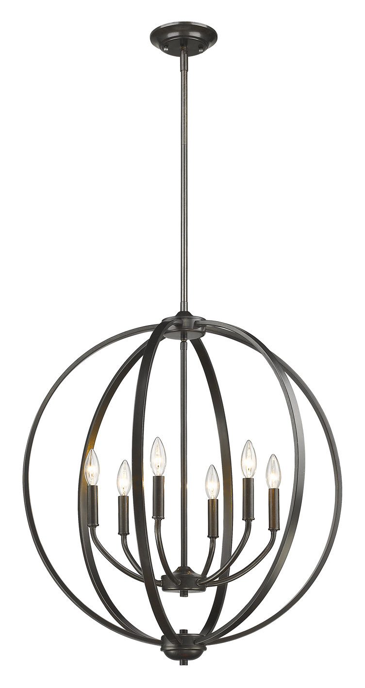 Tensed 6 Light Globe Chandelier Regarding Newest Gregoire 6 Light Globe Chandeliers (View 19 of 20)
