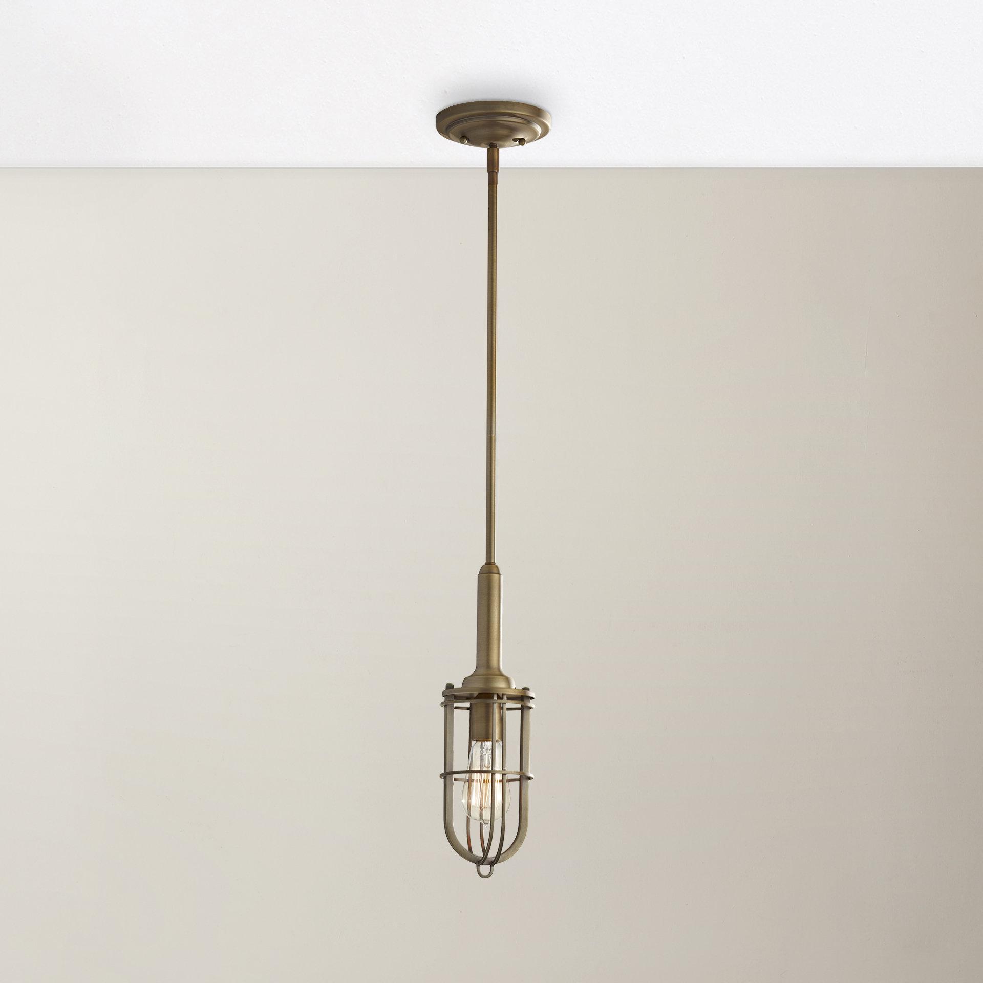 Terry 1 Light Single Bell Pendants Inside Latest Abordale 1 Light Geometric Pendant (View 11 of 20)