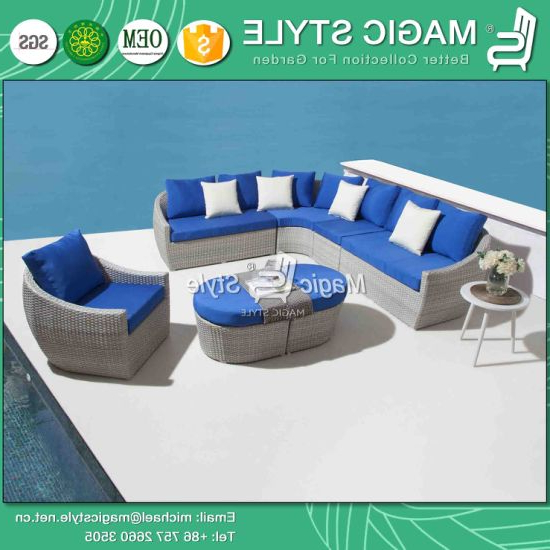 Tess Corner Living Patio Sectionals With Cushions Regarding 2020 China Patio Wicker Corner Sofa Set With Cushion Outdoor (View 13 of 20)