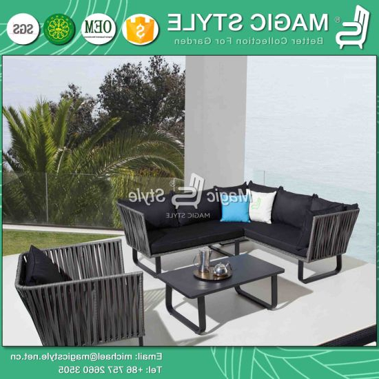 Tess Corner Living Patio Sectionals With Cushions With Preferred China Garden Wicker Corner Sofa Set With Cushion Patio  (View 16 of 20)