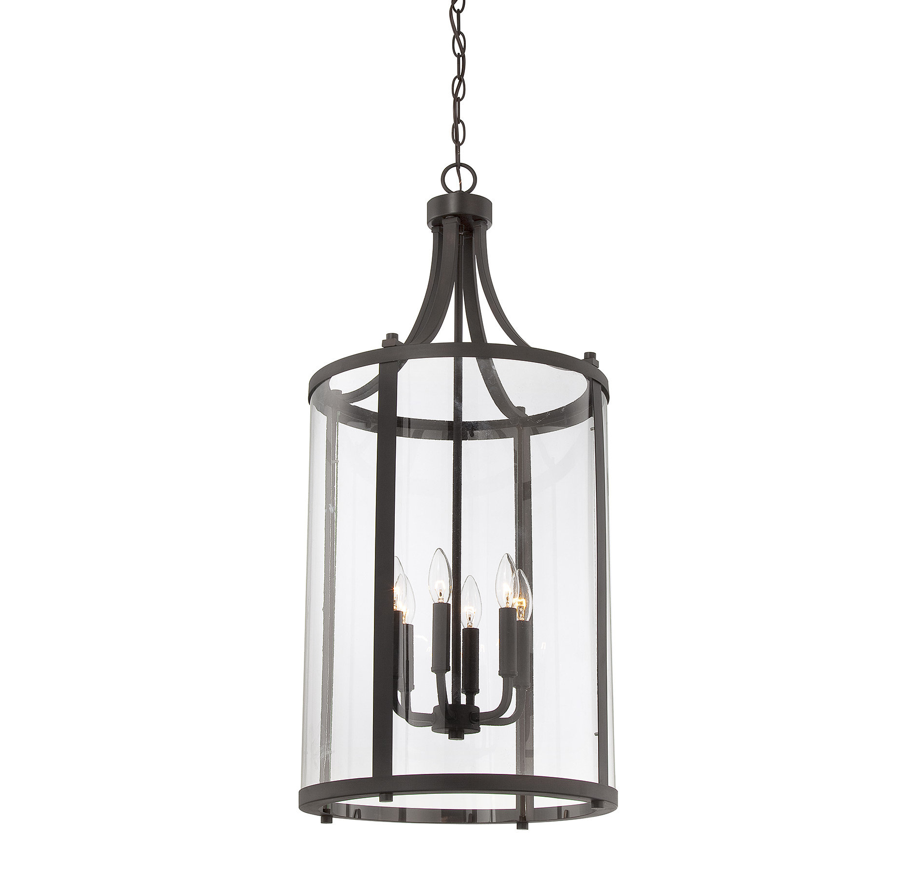 Tessie 3 Light Lantern Cylinder Pendants For Most Up To Date Brookville 6 Light Lantern Cylinder Pendant (View 15 of 20)