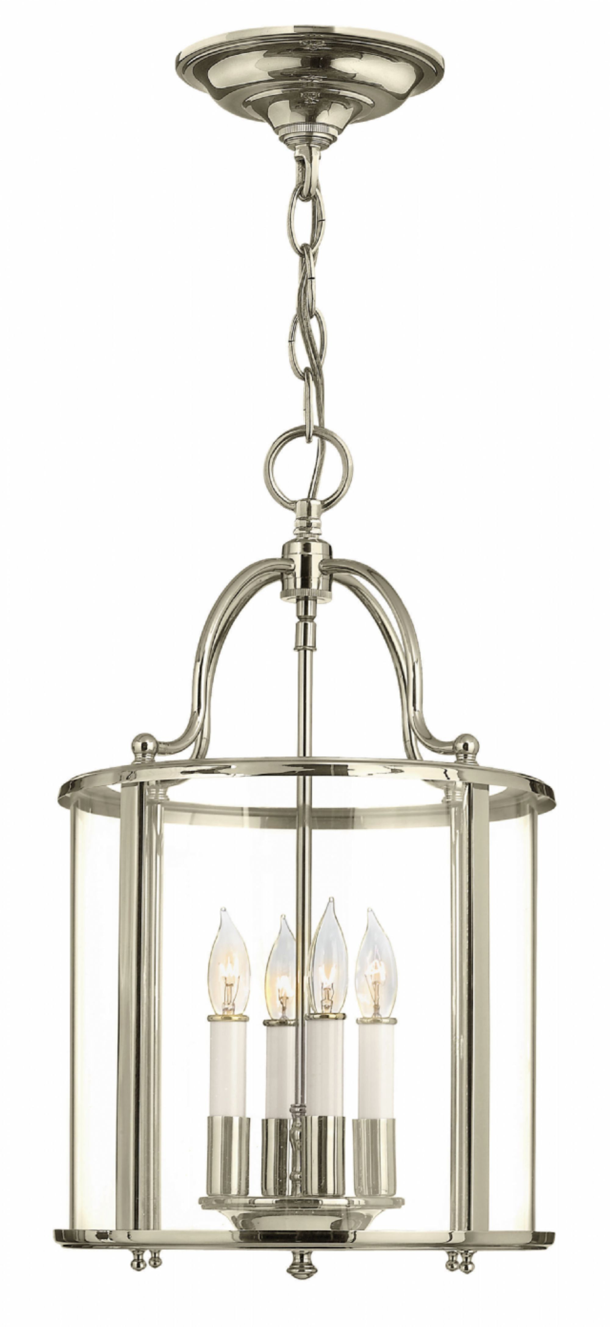 Tessie 3 Light Lantern Cylinder Pendants Within Current Hinkley Lighting – Gentry 3474Pn Comes In Polished Nickel (View 14 of 20)