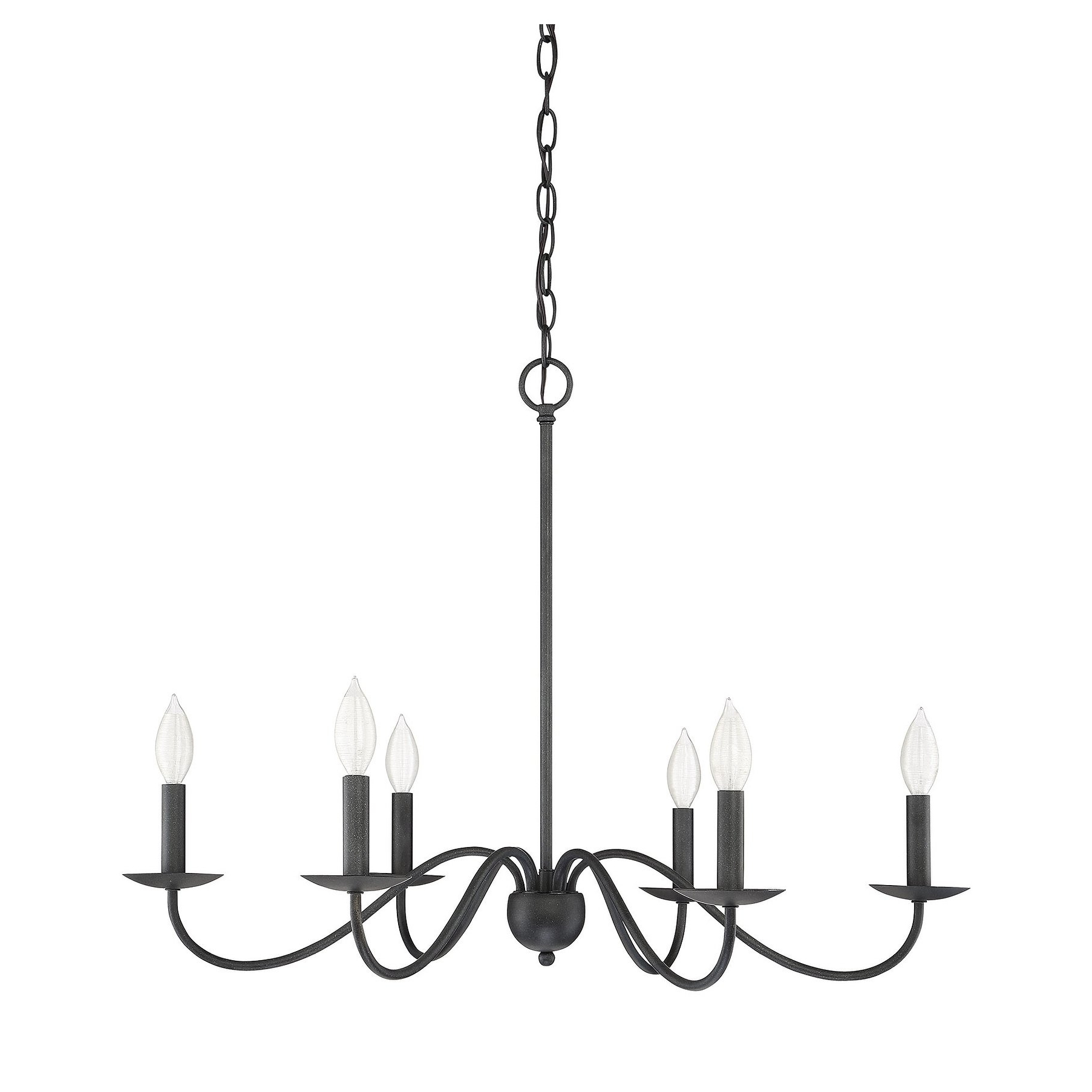 The Gray Barn Lunasa 6 Light Chandelier With Aged Iron In Pertaining To Best And Newest Hamza 6 Light Candle Style Chandeliers (View 13 of 20)