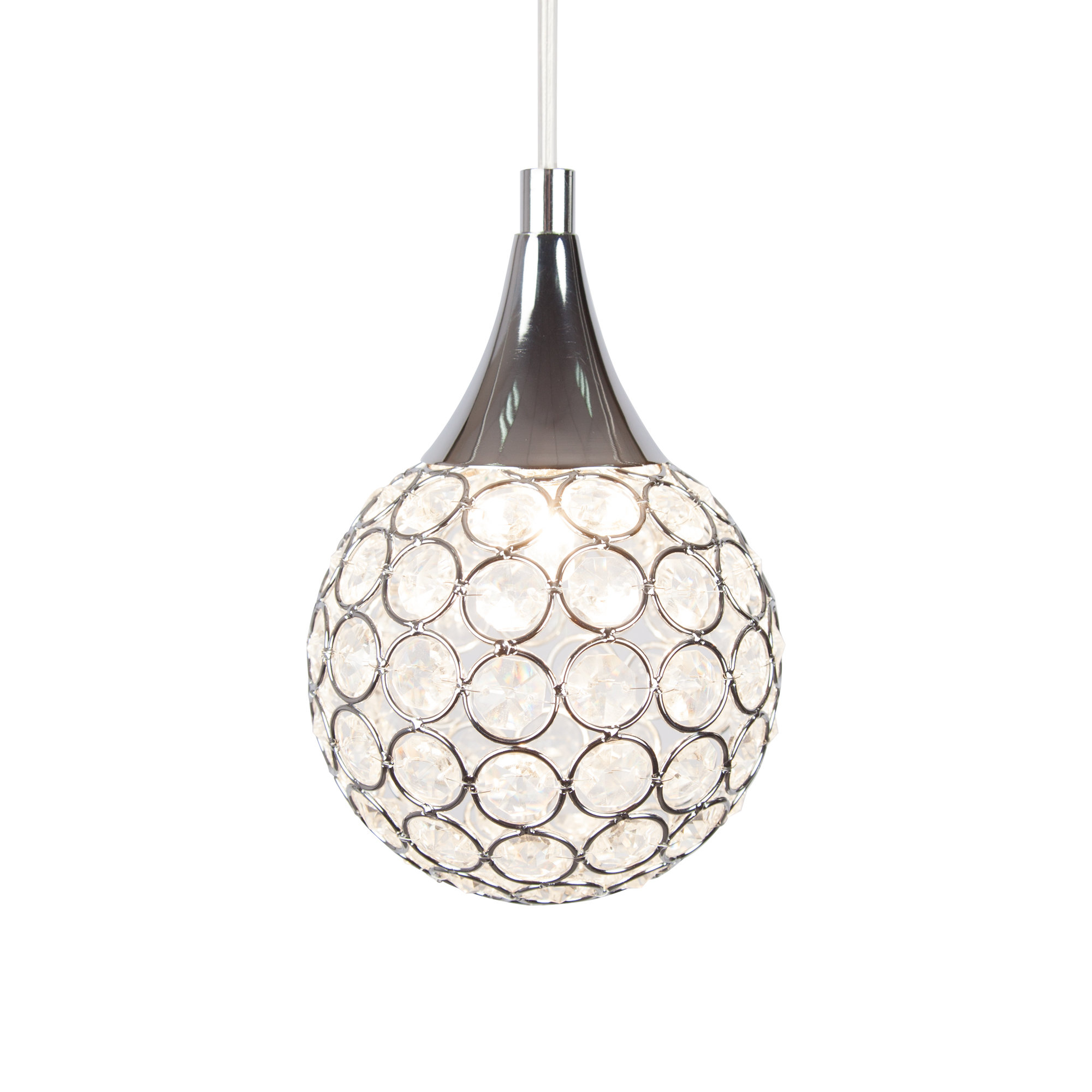 Thea 1 Light Led Globe Pendant Light With Regard To Preferred Devereaux 1 Light Single Globe Pendants (View 19 of 20)