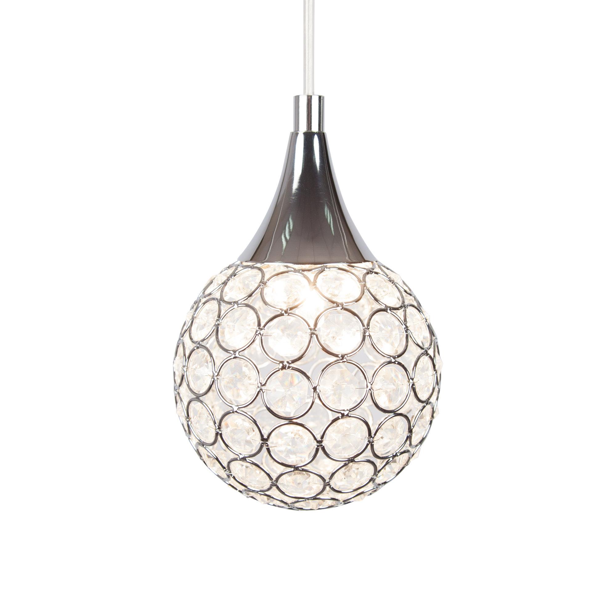 Thea 1 Light Led Globe Pendant Light With Regard To Preferred Devereaux 1 Light Single Globe Pendants (View 4 of 20)