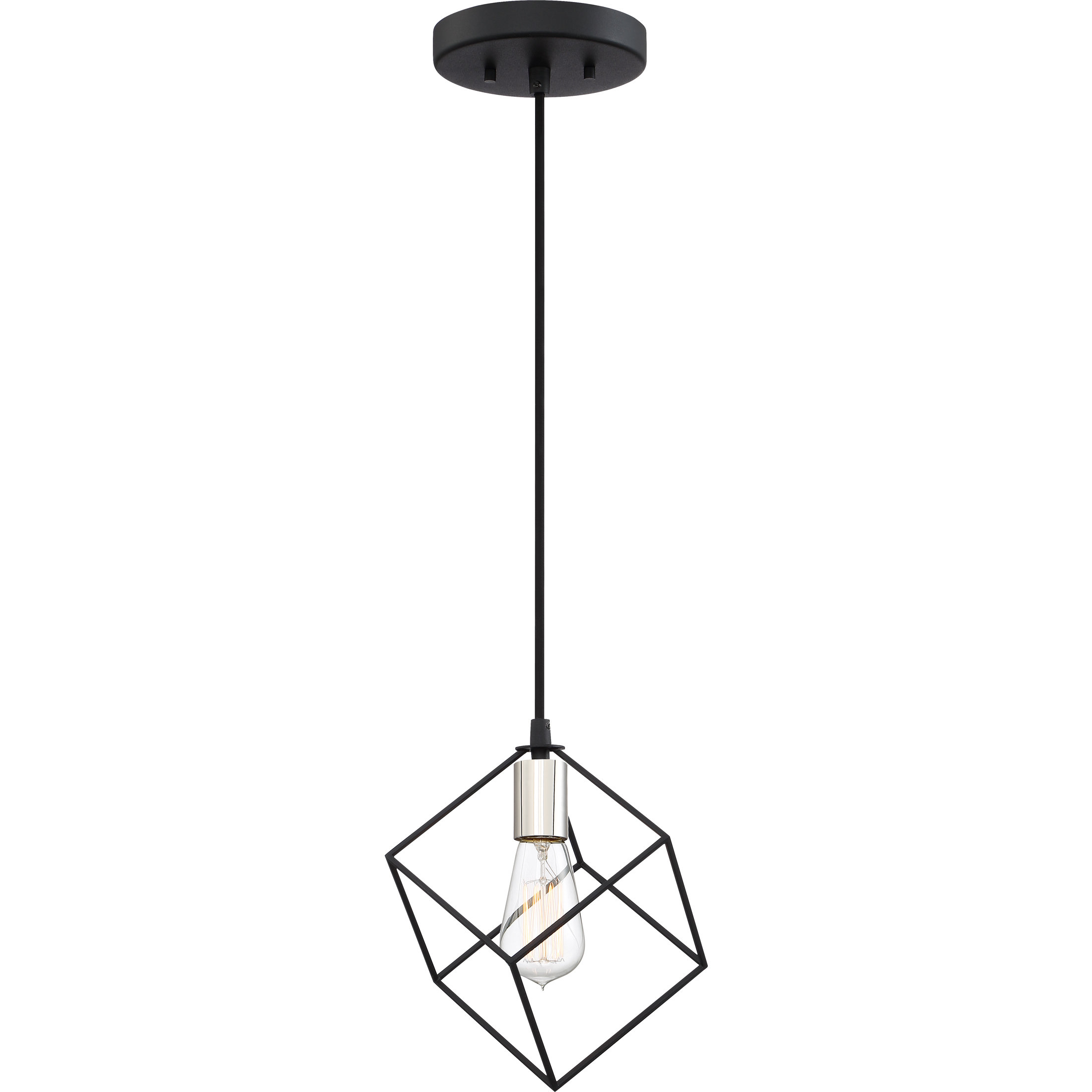 Theodorus 1 Light Single Geometric Pendant Within Most Recently Released Rockland 4 Light Geometric Pendants (View 5 of 20)