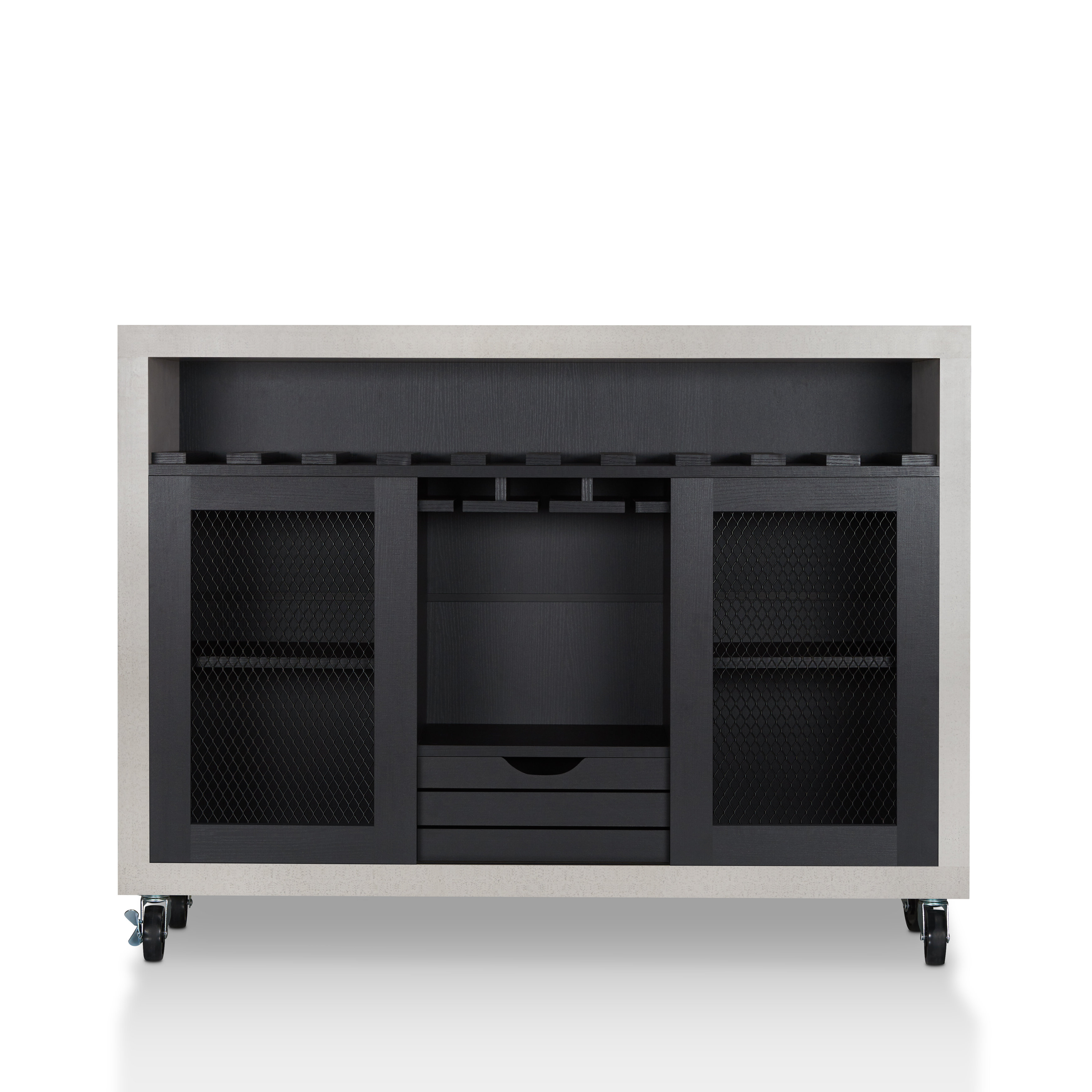 Thite Sideboards With Regard To Fashionable Brayden Studio Dickenson Server (View 17 of 20)