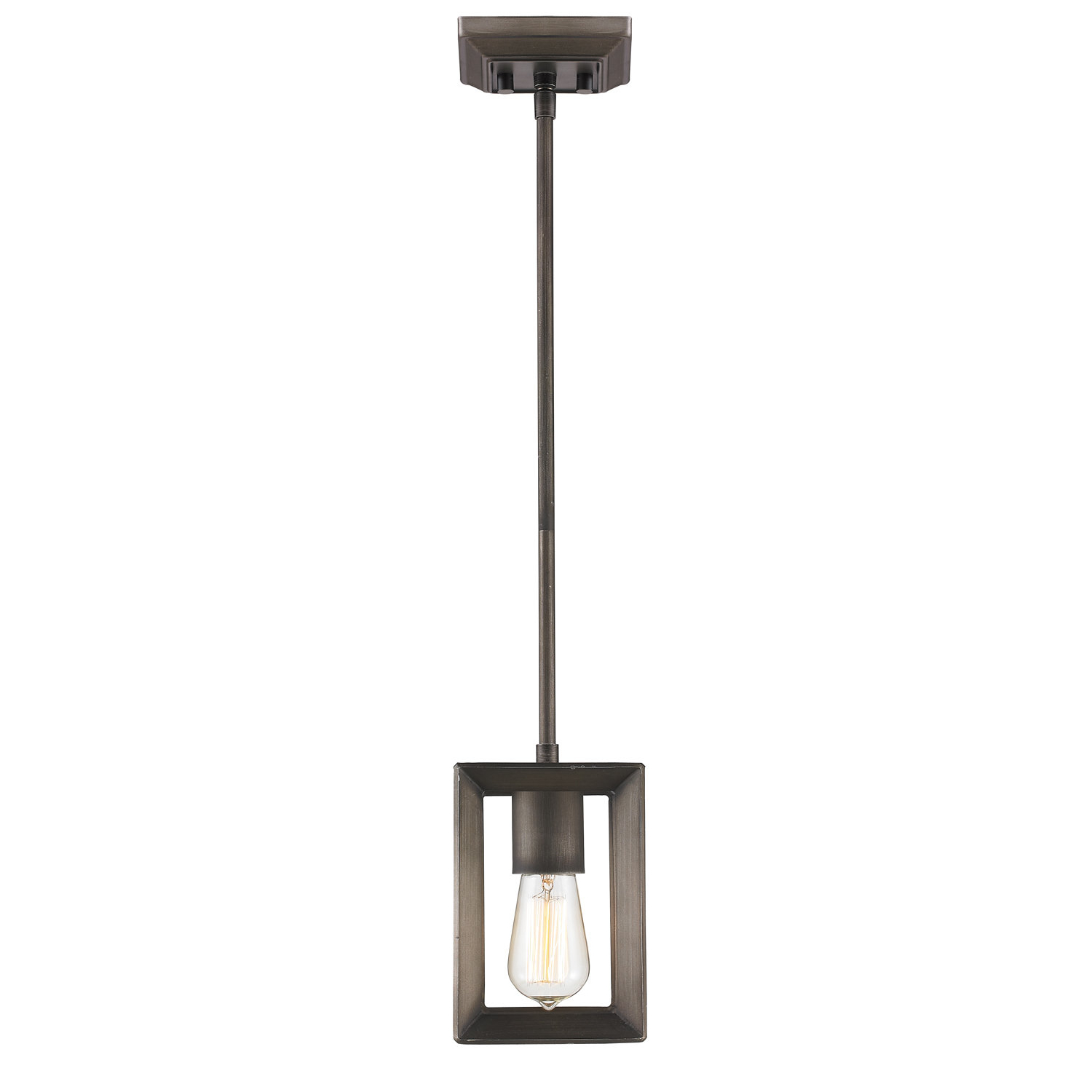 Thorne 1 Light Single Square / Rectangle Pendant Within Most Recent Sue 1 Light Single Jar Pendants (View 10 of 20)