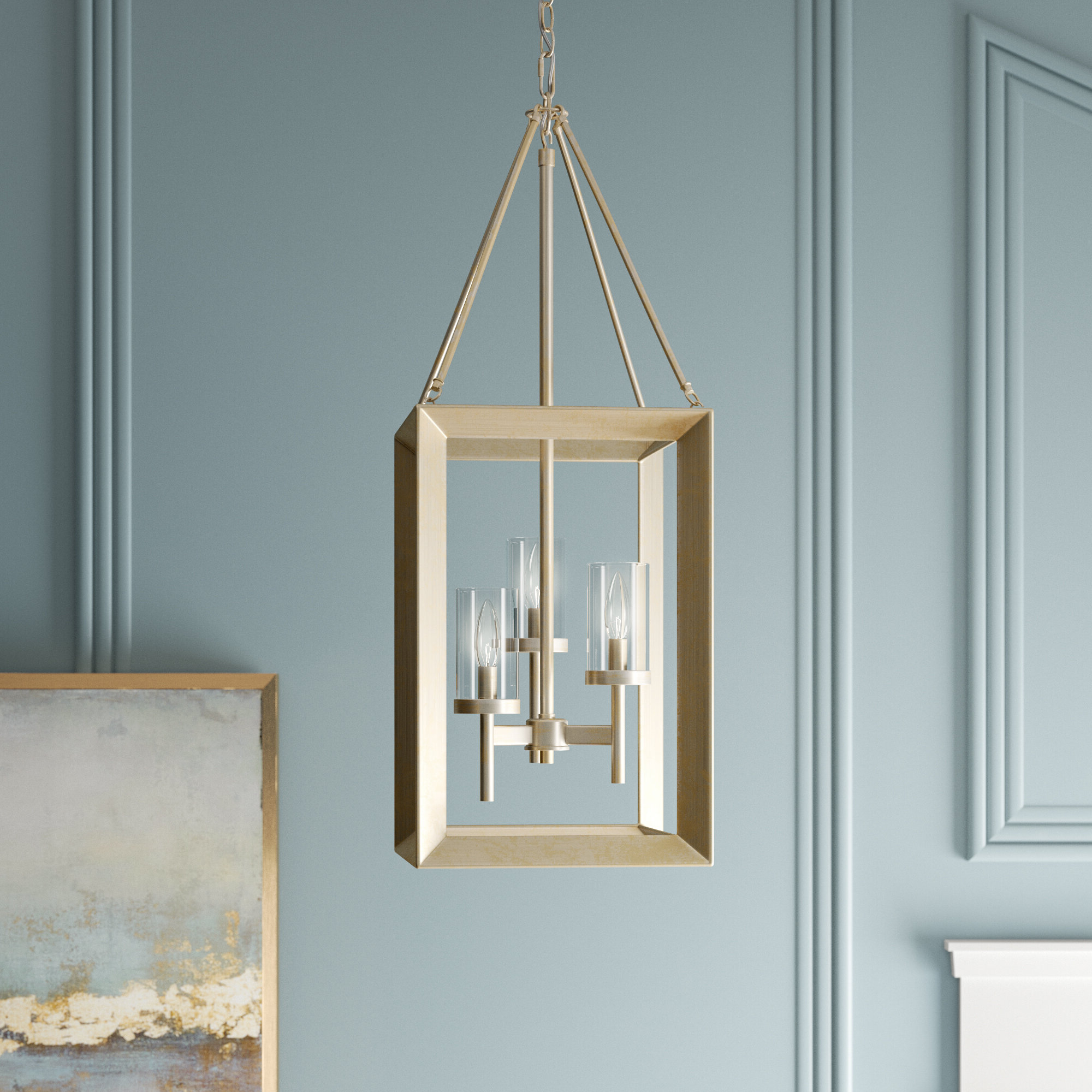 Thorne 3 Light Lantern Square / Rectangle Pendant & Reviews In Most Up To Date Thorne 4 Light Lantern Rectangle Pendants (View 8 of 20)