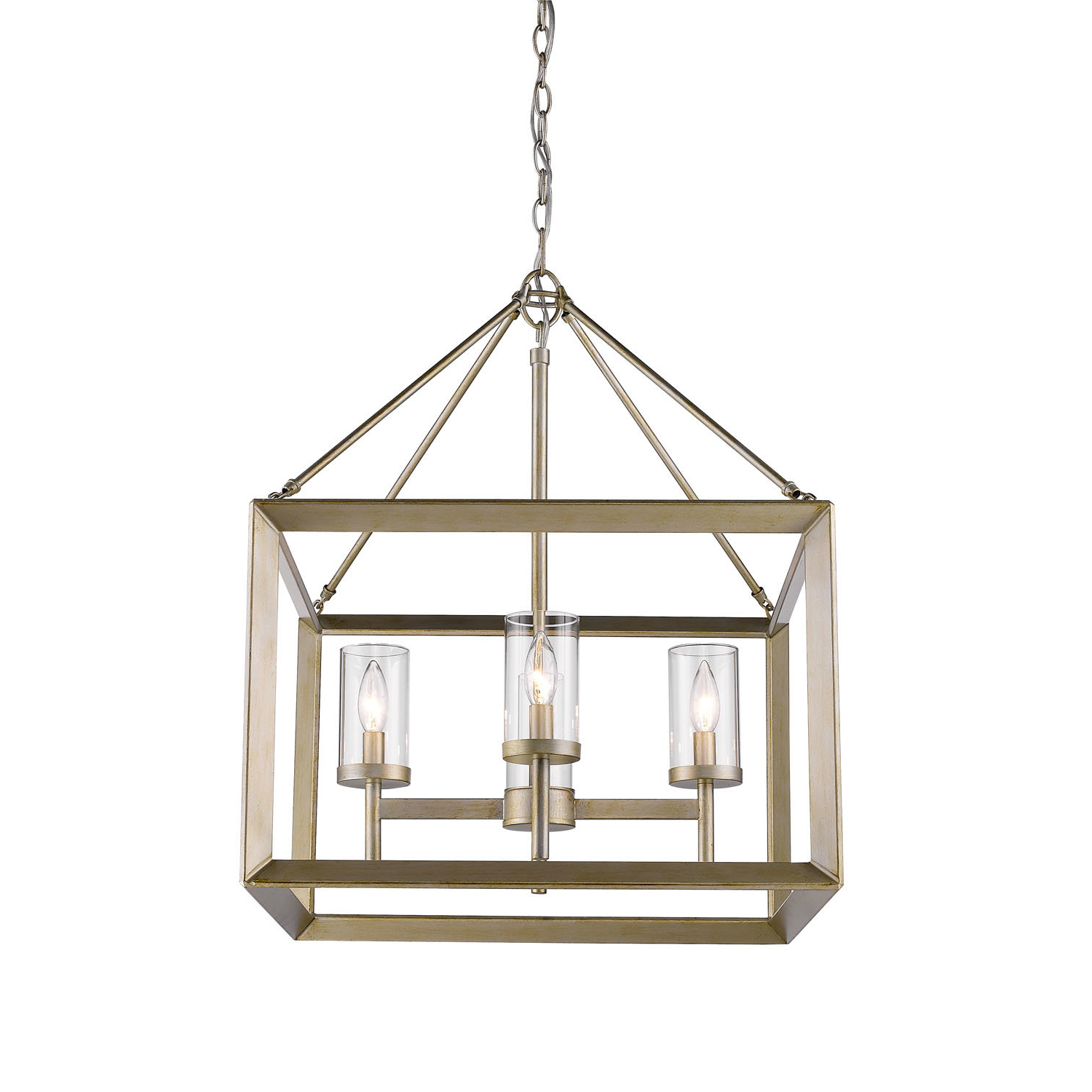 Thorne 4 Light Lantern Rectangle Pendant For Best And Newest Thorne 6 Light Lantern Square / Rectangle Pendants (View 11 of 20)