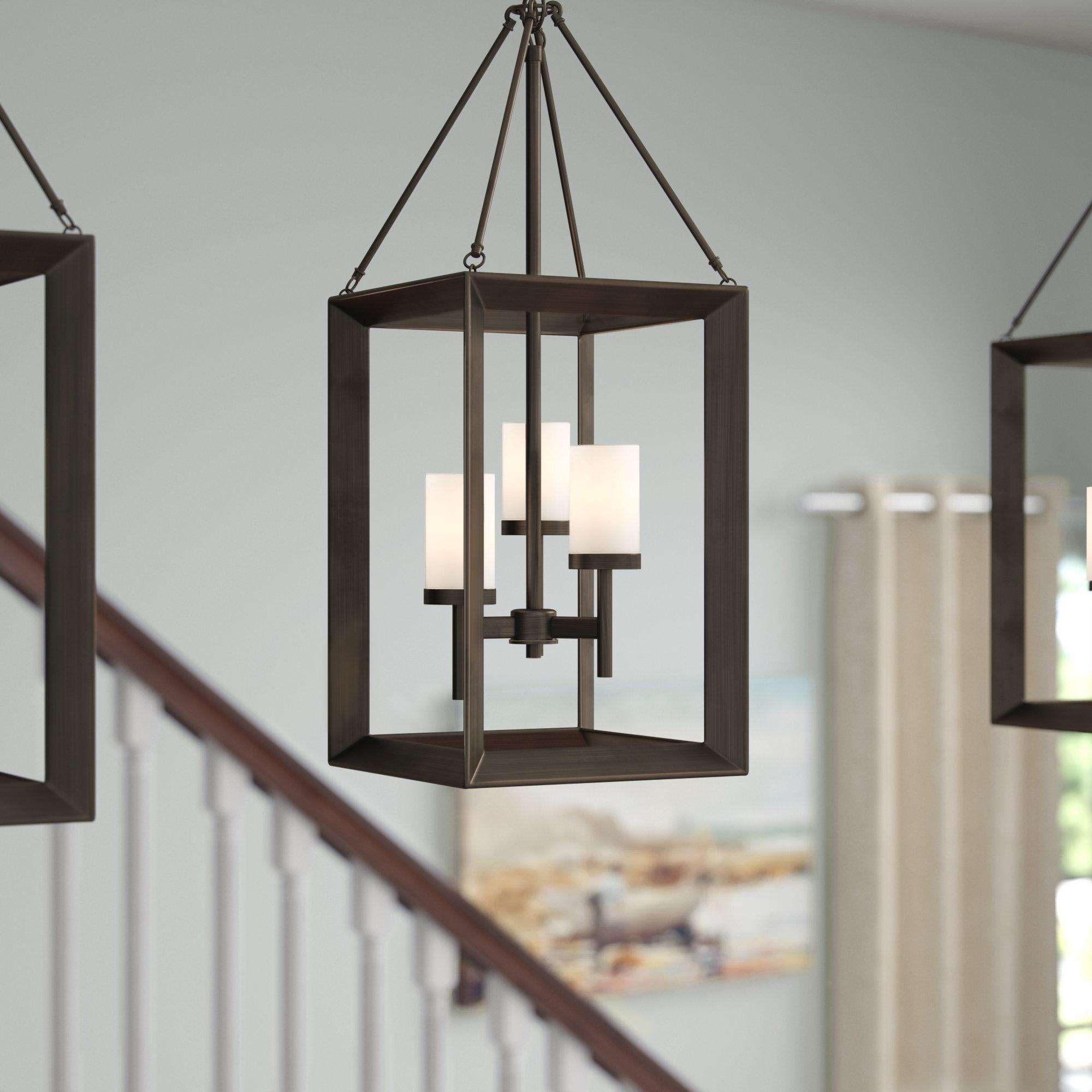 Thorne 4 Light Lantern Rectangle Pendants Inside Well Known Thorne 3 Light Lantern Square Pendant (View 9 of 20)