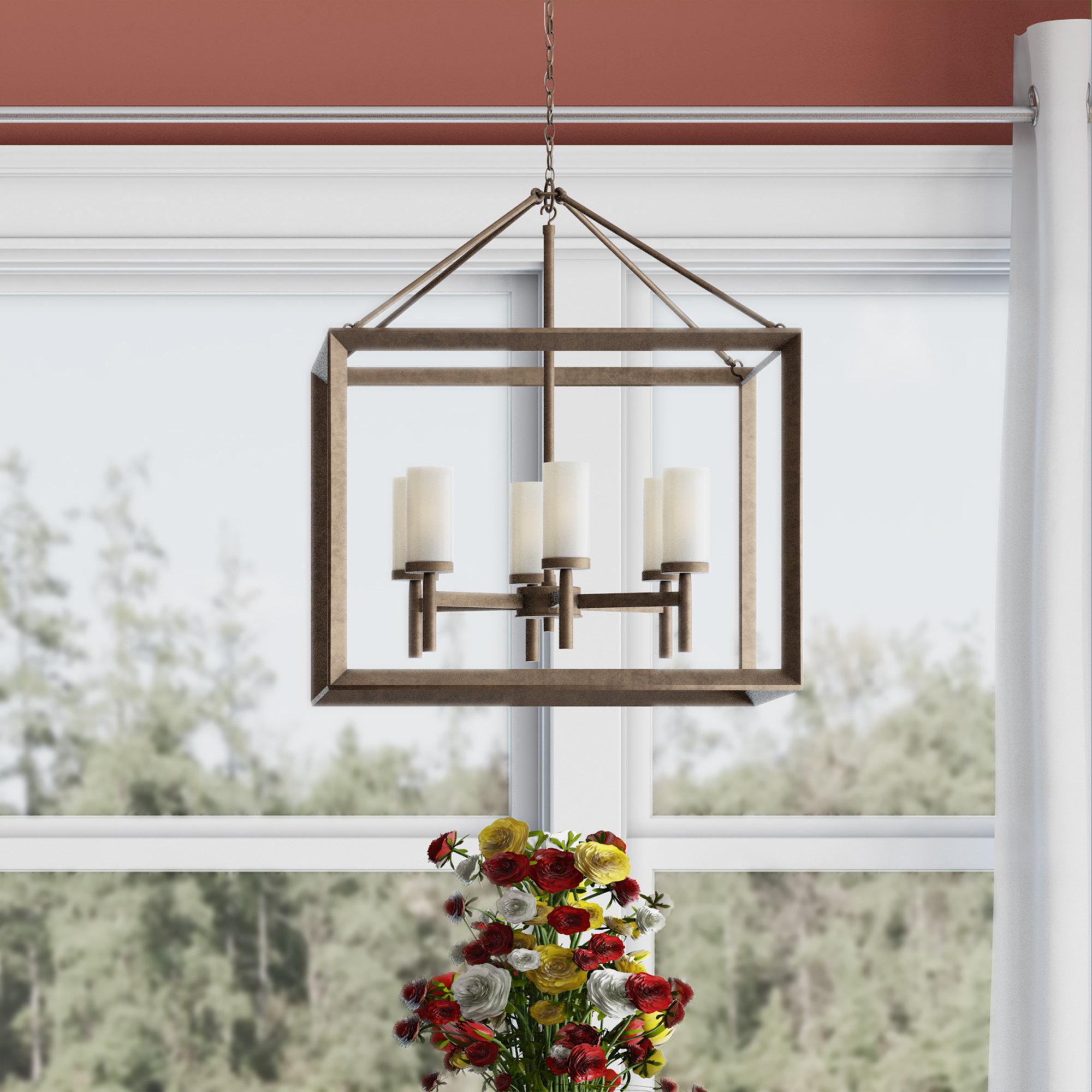 Thorne 6 Light Lantern Square / Rectangle Pendant Inside Most Up To Date Odie 8 Light Lantern Square / Rectangle Pendants (View 17 of 20)