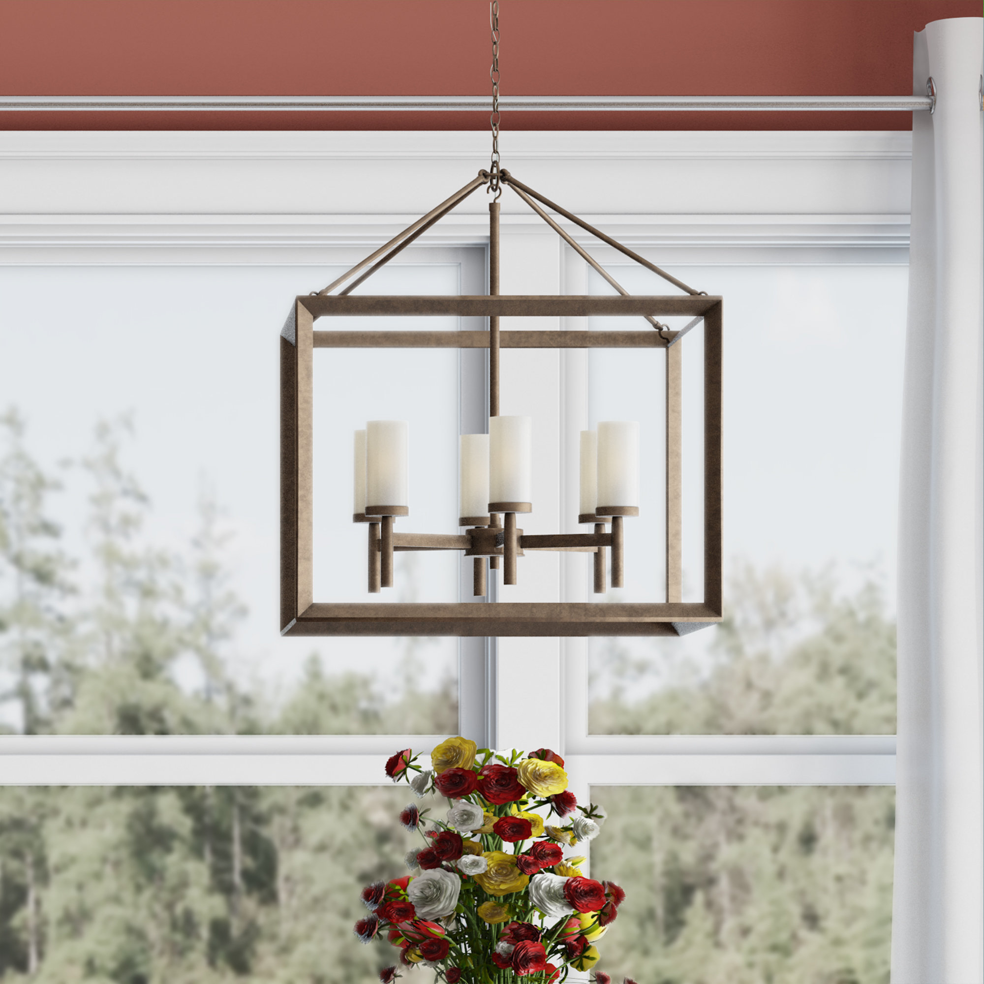 Featured Photo of Thorne 6 Light Lantern Square / Rectangle Pendants