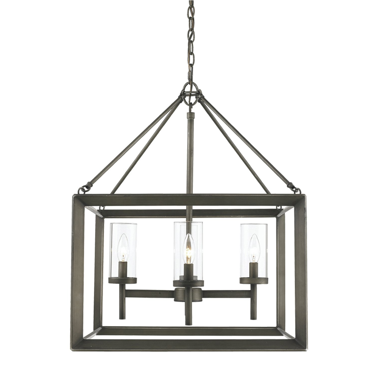 Thorne 6 Light Lantern Square / Rectangle Pendants Inside Current Thorne 4 Light Lantern Rectangle Pendant (View 14 of 20)