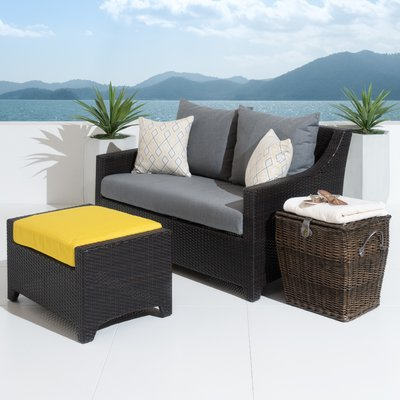 Three Posts Northridge Loveseat And Ottoman With Cushions Throughout Most Popular Northridge Loveseats With Cushions (View 19 of 20)
