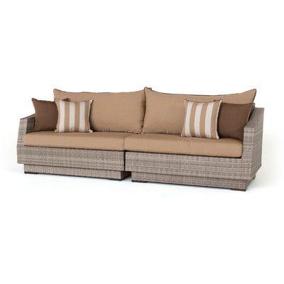 Three Posts Northridge Patio Sofa With Sunbrella Cushions For Newest Northridge Patio Sofas With Sunbrella Cushions (View 18 of 20)