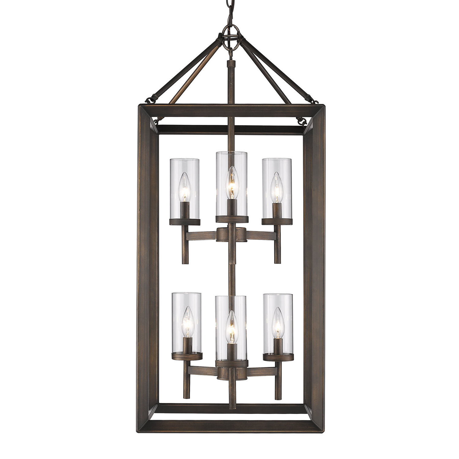 Three Posts Thorne 6 Light Lantern Pendant & Reviews Pertaining To Most Up To Date Thorne 6 Light Lantern Square / Rectangle Pendants (View 18 of 20)