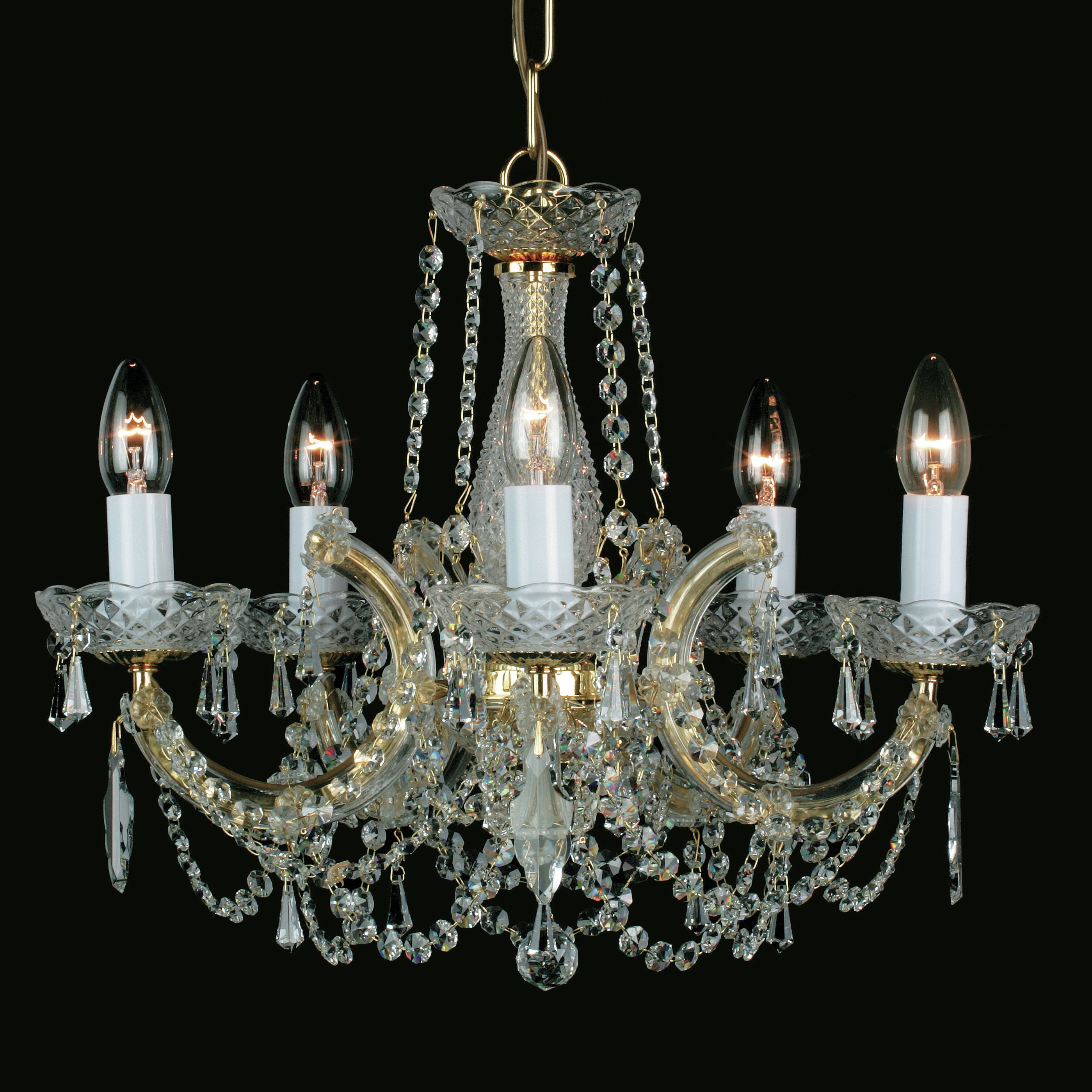 Thresa 5 Light Shaded Chandeliers In Preferred Impex Lighting Marie Theresa 5 Light Candle Style Chandelier (View 11 of 20)