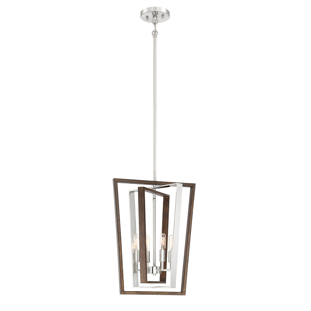 Tiana 4 Light Geometric Chandeliers Throughout Widely Used Shamus 4 Light Geometric Chandelier (View 5 of 20)