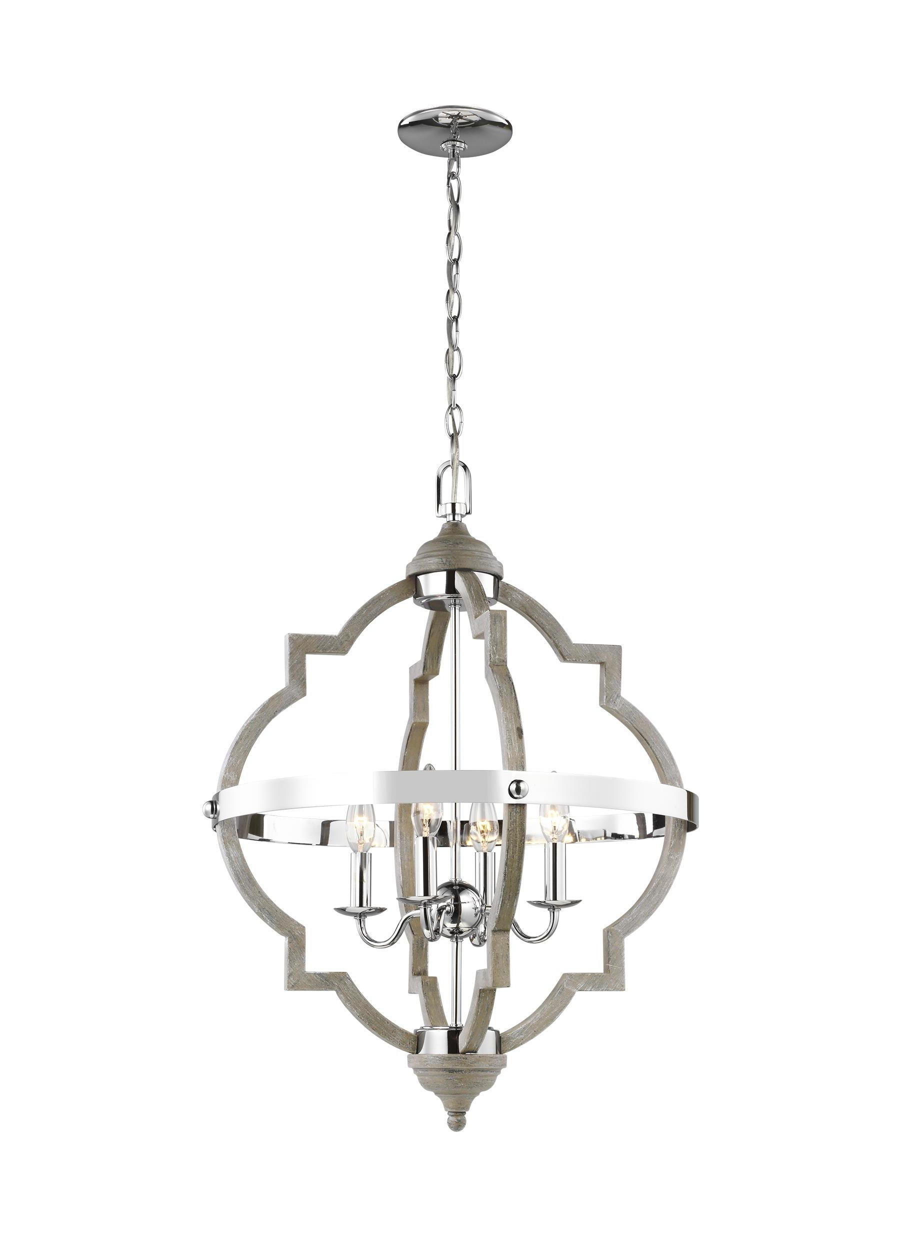Tiana 4 Light Geometric Chandeliers Within 2020 Bennington 4 Light Geometric Chandelier (View 9 of 20)