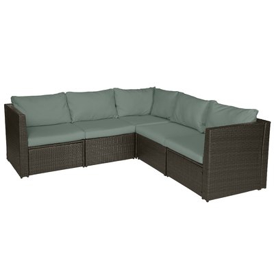 Tiana Patio Daybeds With Cushions Throughout Most Recently Released Mercury Row Lachesis Patio Sectional With Cushions In  (View 15 of 20)