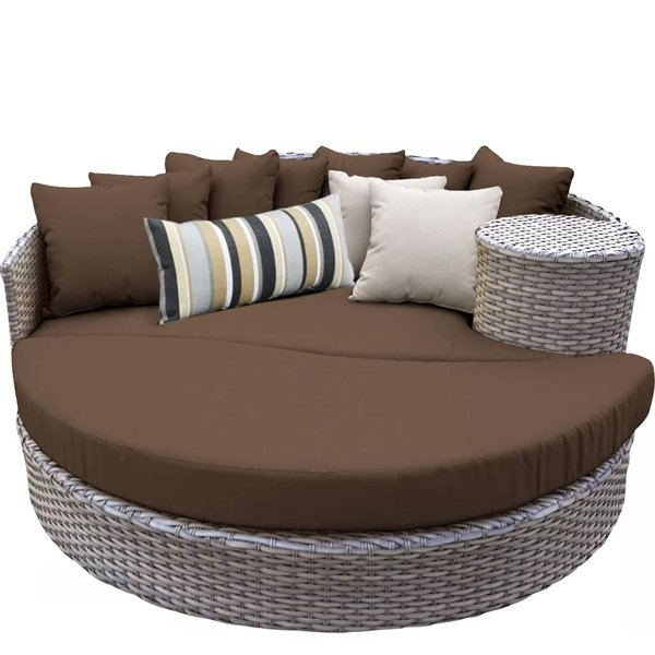 Tiana Patio Daybeds With Cushions Throughout Trendy Modern Outdoor Daybeds (View 16 of 20)