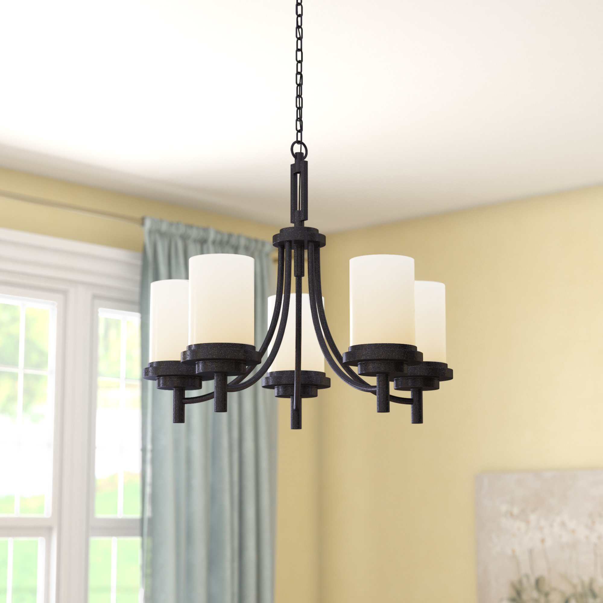 Tilford 5 Light Shaded Chandelier Throughout Widely Used Crofoot 5 Light Shaded Chandeliers (View 6 of 20)