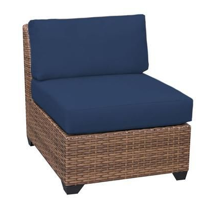 Tkc025B As Db Navy Laguna Armless Sofa 2 Per Box With 2 Intended For Favorite Waterbury Curved Armless Sofa With Cushions (View 12 of 20)