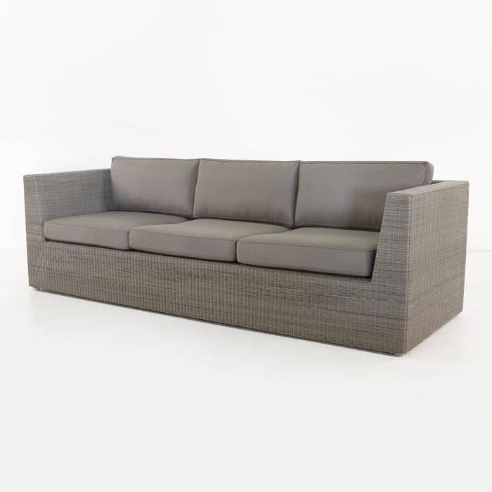 Trendy Antonia Teak Patio Sectionals With Cushions In Antonio Outdoor Wicker Sofa (Stonewash) (View 16 of 20)