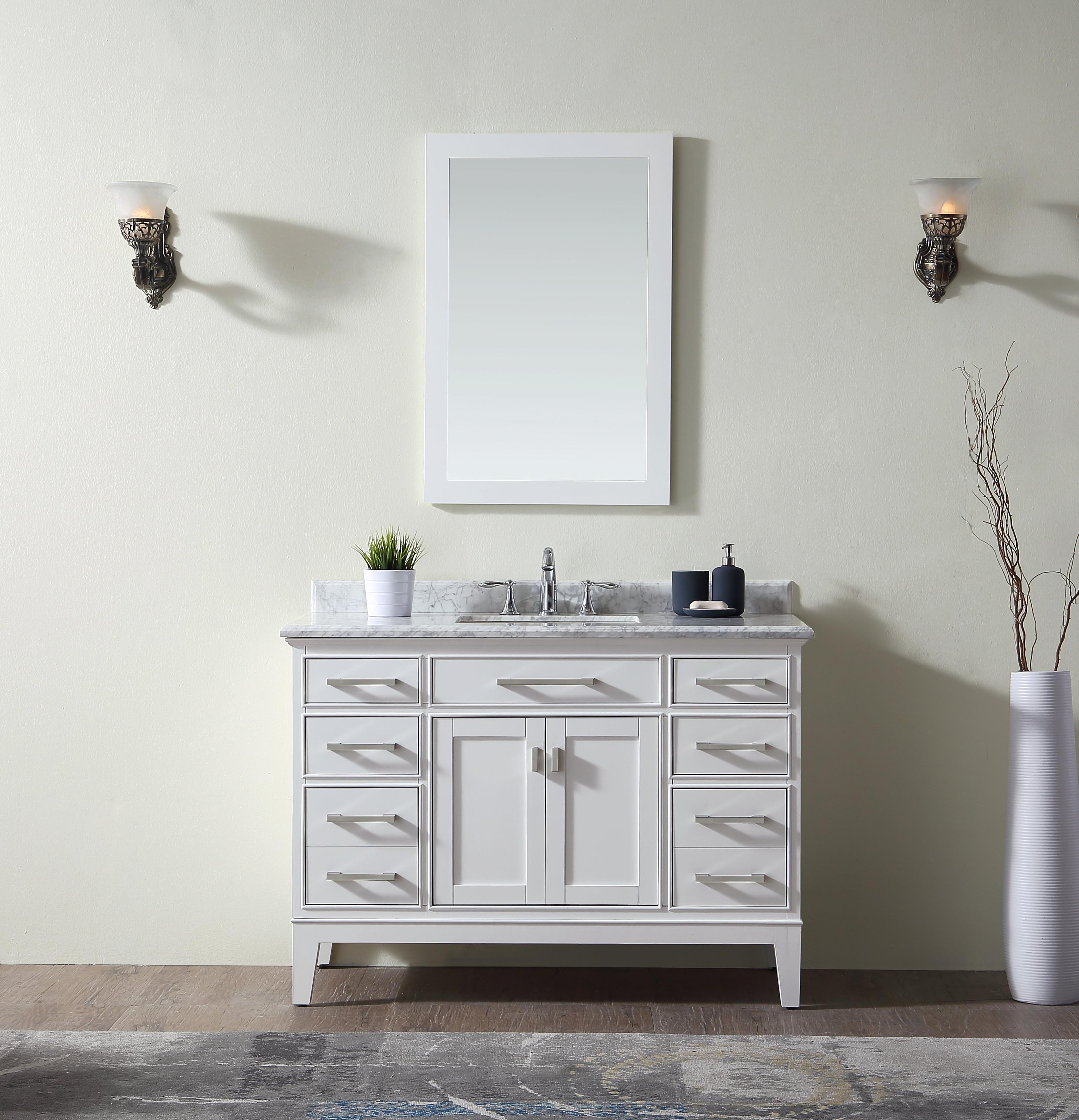 """Trendy Arminta 48"""" Single Bathroom Vanity Set Throughout Arminta Wood Sideboards (View 13 of 20)"""