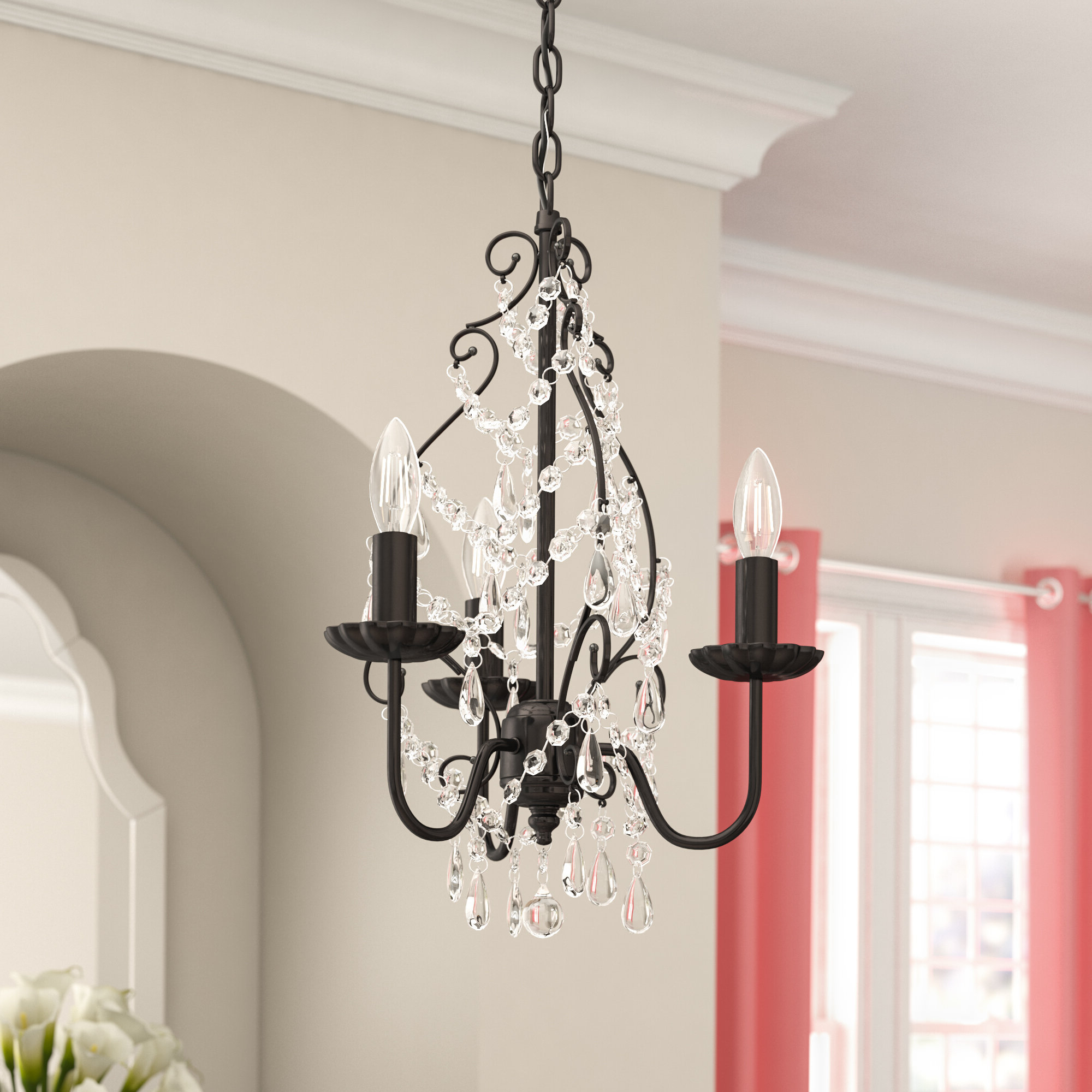 Trendy Blanchette 5 Light Candle Style Chandeliers With Archway 3 Light Candle Style Chandelier (View 19 of 20)