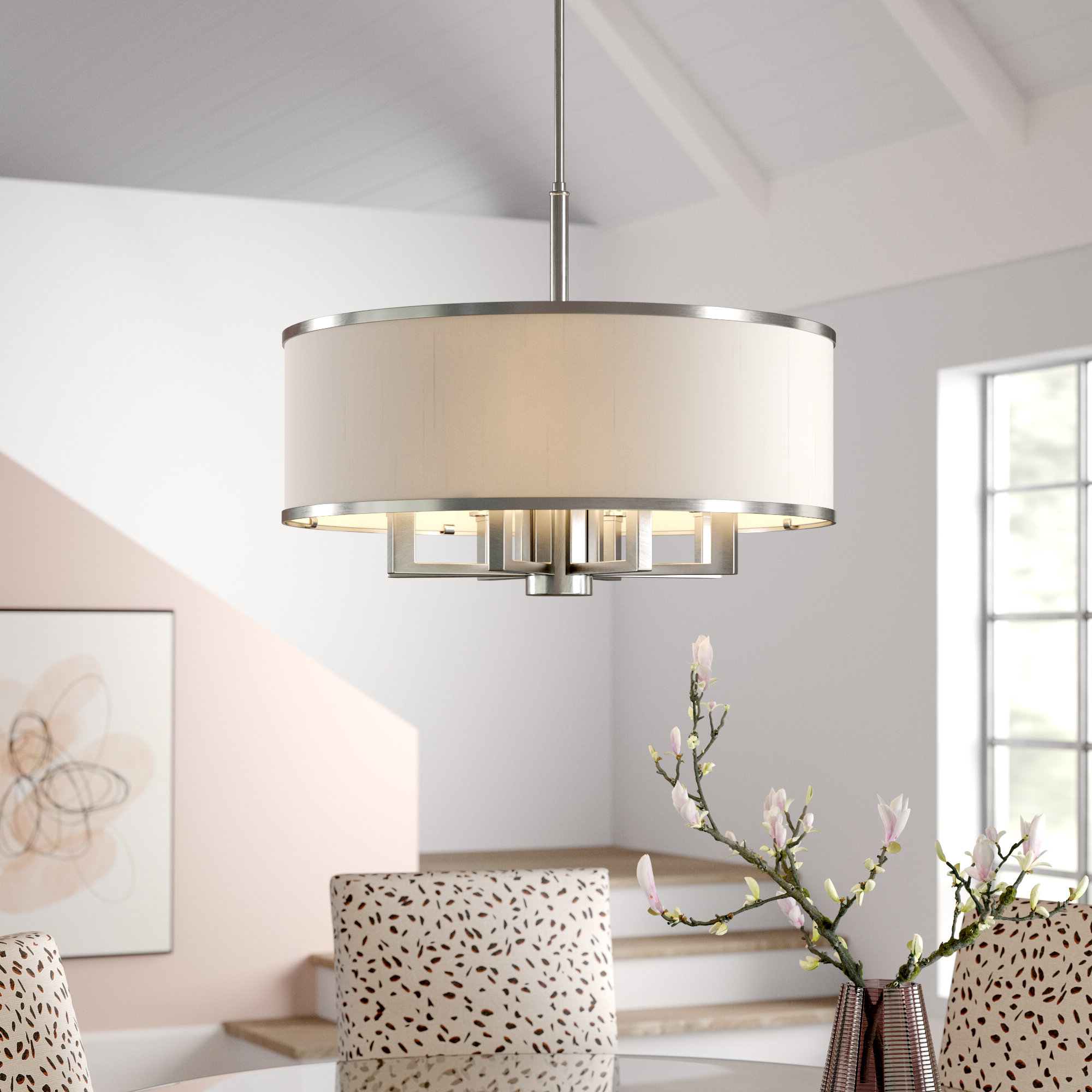 Trendy Breithaup 4 Light Drum Chandeliers With Regard To Breithaup 7 Light Drum Chandelier & Reviews (View 18 of 20)