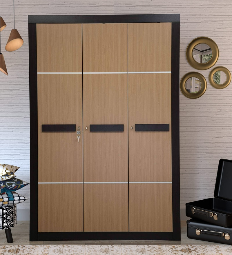 Trendy Buy Antonia Three Door Wardrobe In Walnut Colournilkamal In Antonia Teak Patio Sectionals With Cushions (View 18 of 20)