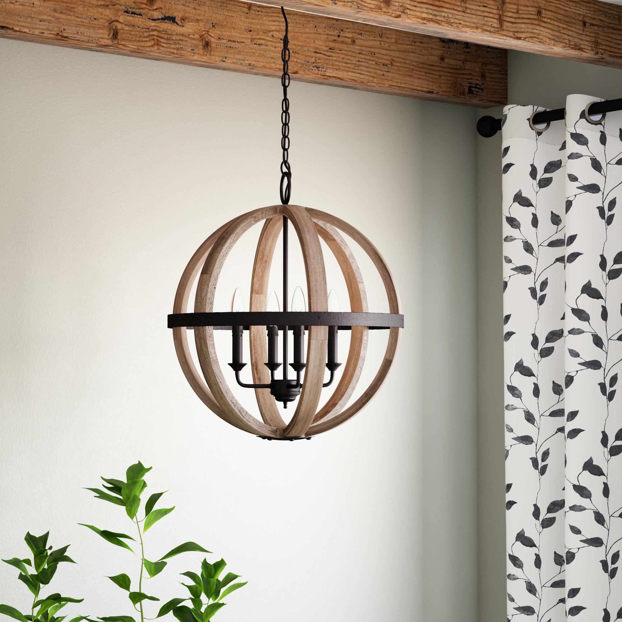 Trendy Caley 4 Light Globe Chandelier In Filipe Globe Chandeliers (View 20 of 20)