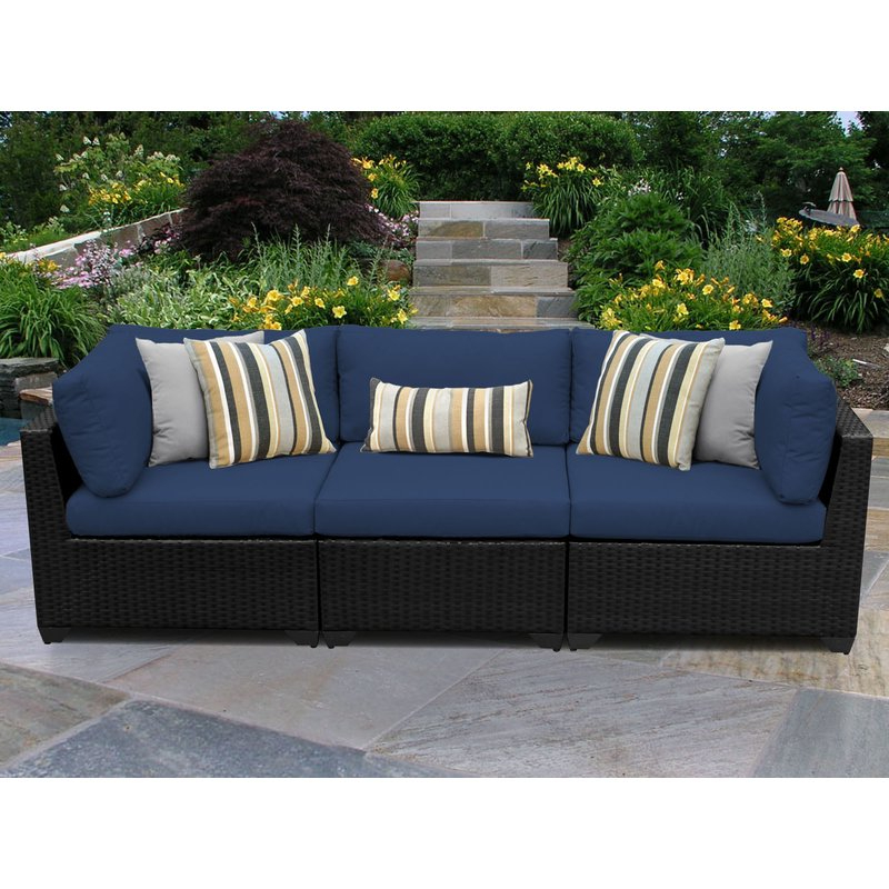 Trendy Camak Patio Sofa With Cushions With Purington Circular Patio Sectionals With Cushions (View 16 of 20)