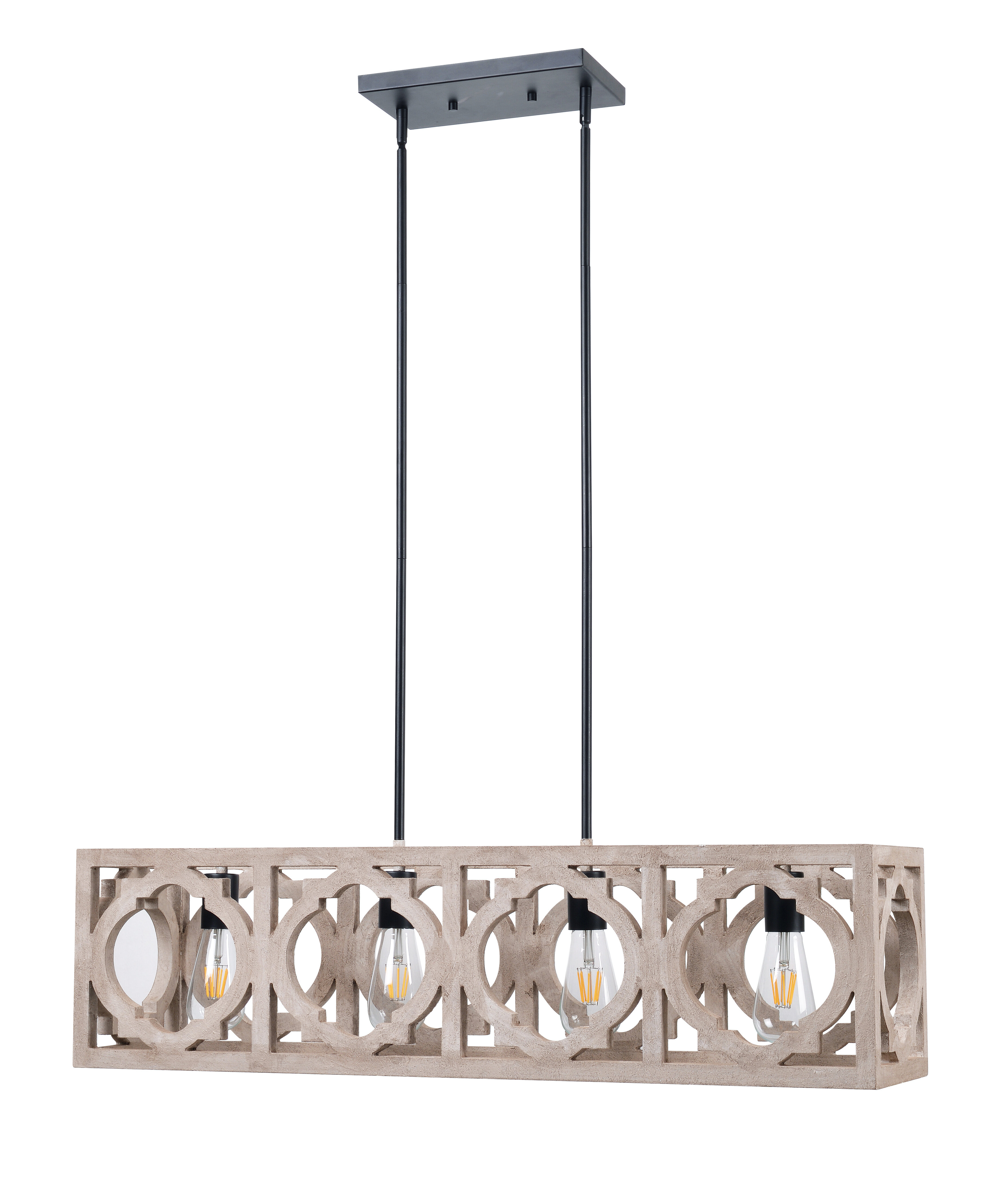 Trendy Choi 4 Light Kitchen Island Linear Pendant Pertaining To Schutt 4 Light Kitchen Island Pendants (View 17 of 20)