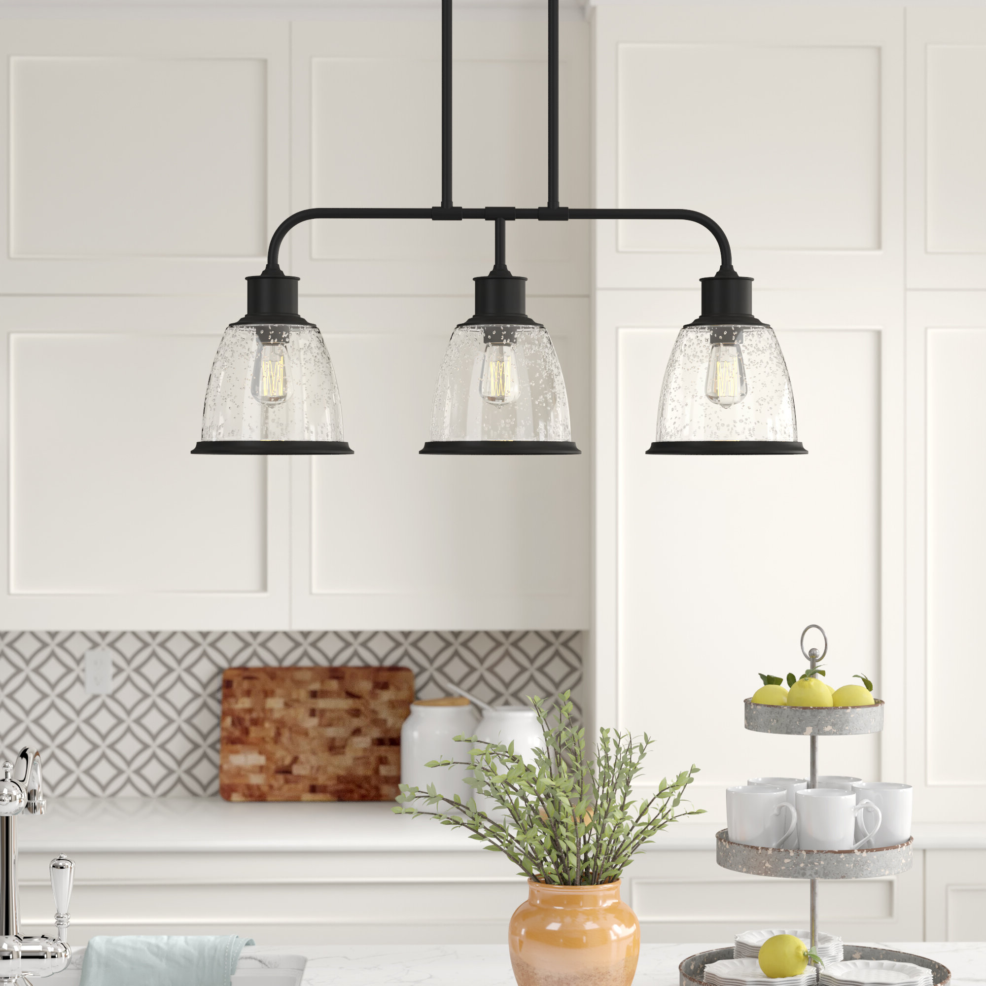 Trendy Cinchring 4 Light Kitchen Island Linear Pendants For Ambler 3 Light Kitchen Island Bell Pendant (View 17 of 20)