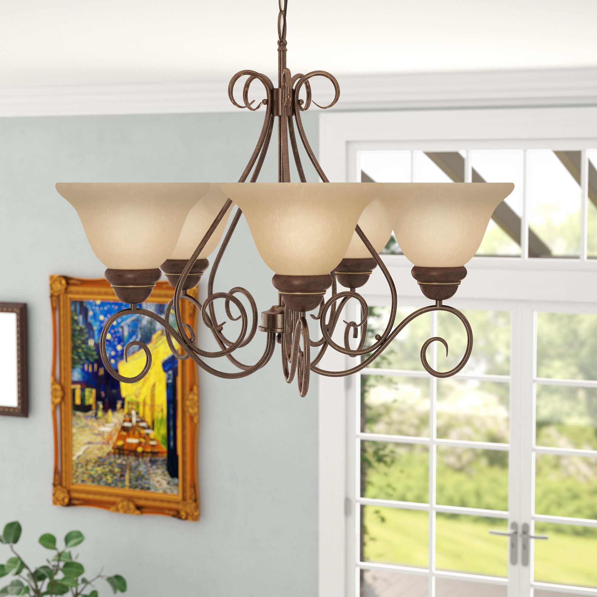 Featured Photo of Gaines 5 Light Shaded Chandeliers