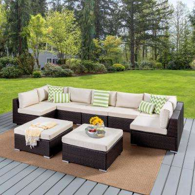 Trendy Cushions Included – Aluminum – Outdoor Lounge Furniture Pertaining To Greta Living Patio Sectionals With Cushions (View 18 of 20)