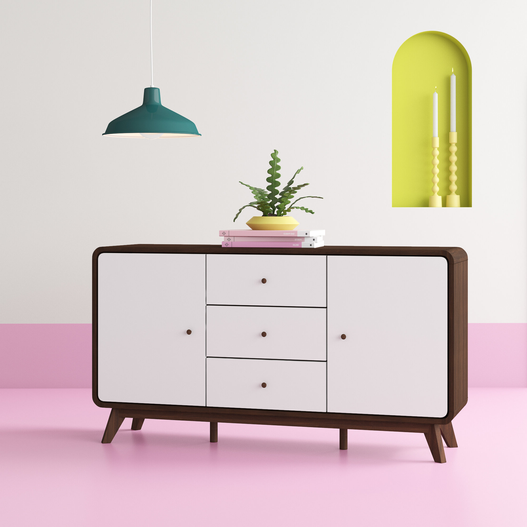 Trendy Dowler 2 Drawer Sideboards Inside Christian Sideboard (View 13 of 20)