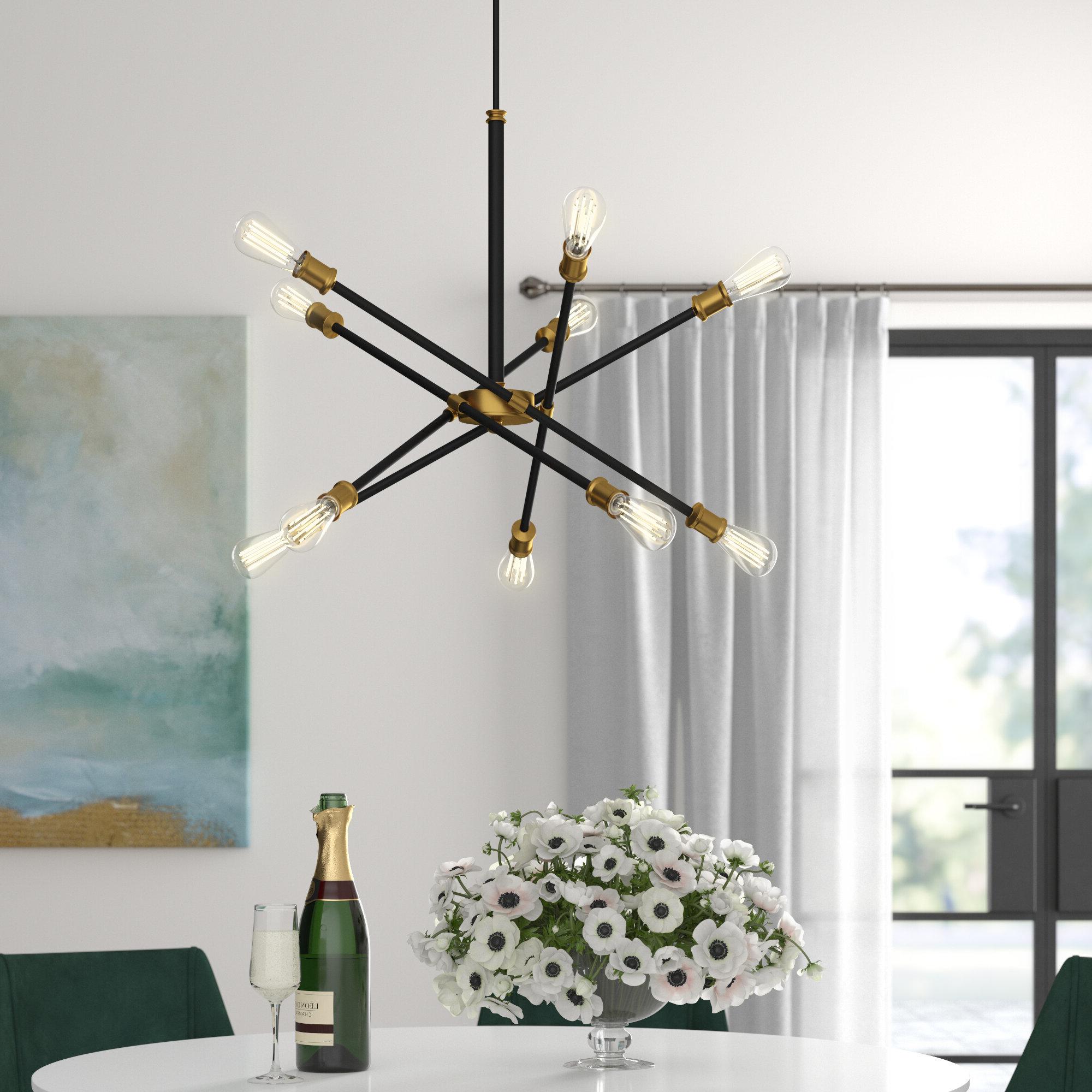 Featured Photo of Everett 10 Light Sputnik Chandeliers