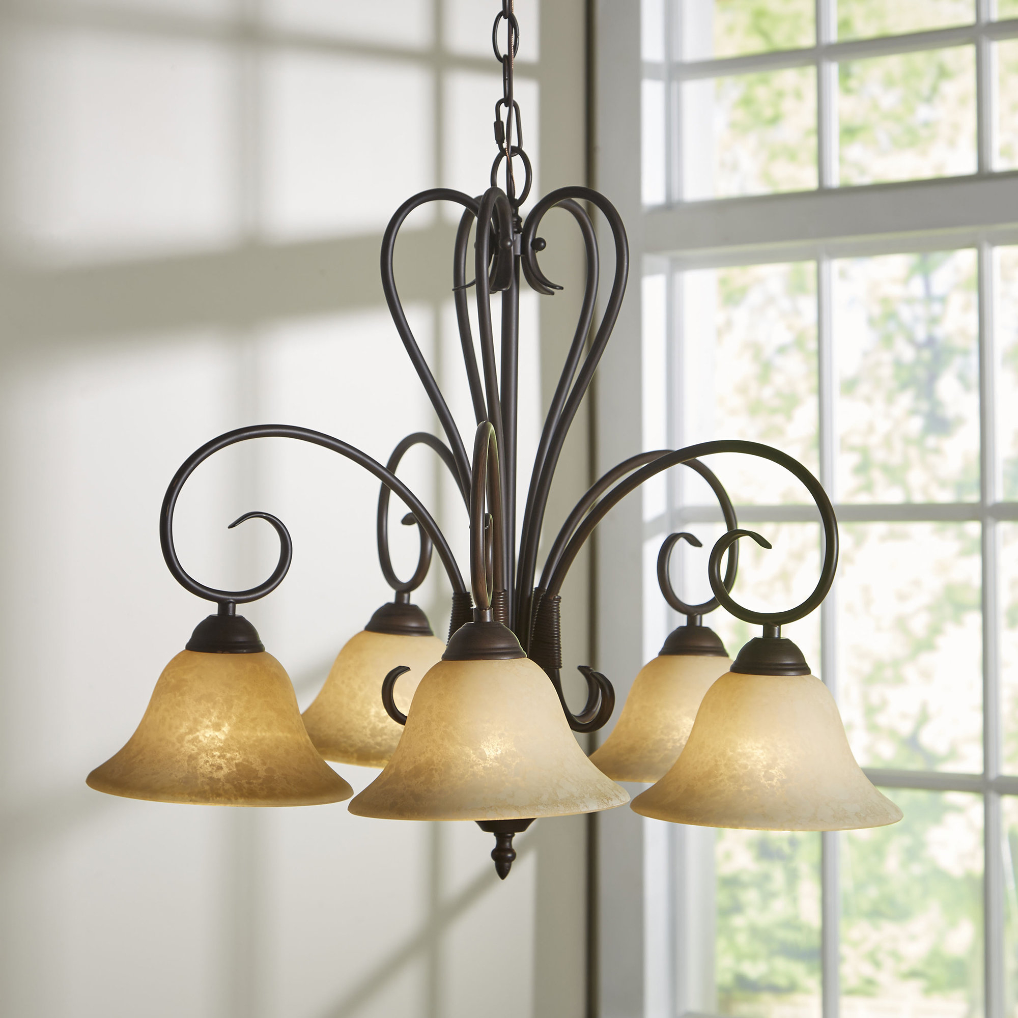 Trendy Gaines 5 Light Shaded Chandelier With Regard To Gaines 5 Light Shaded Chandeliers (View 19 of 20)