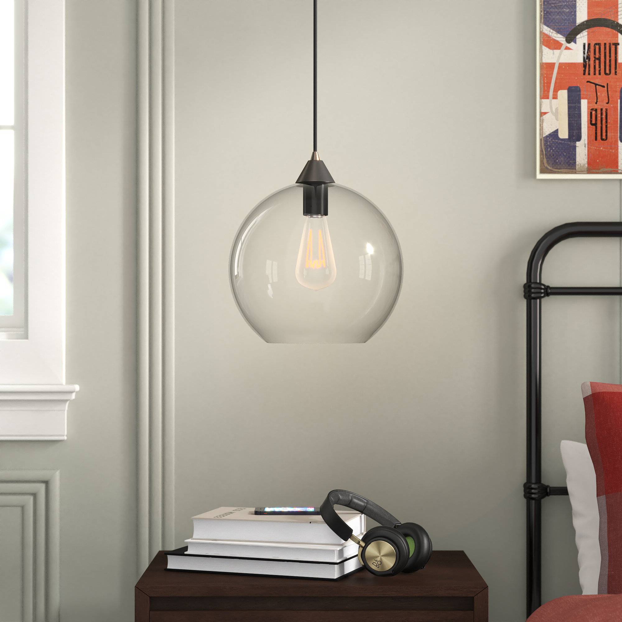 Trendy Gehry 1 Light Single Globe Pendants Throughout Alana 1 Light Single Globe Pendant (View 5 of 20)