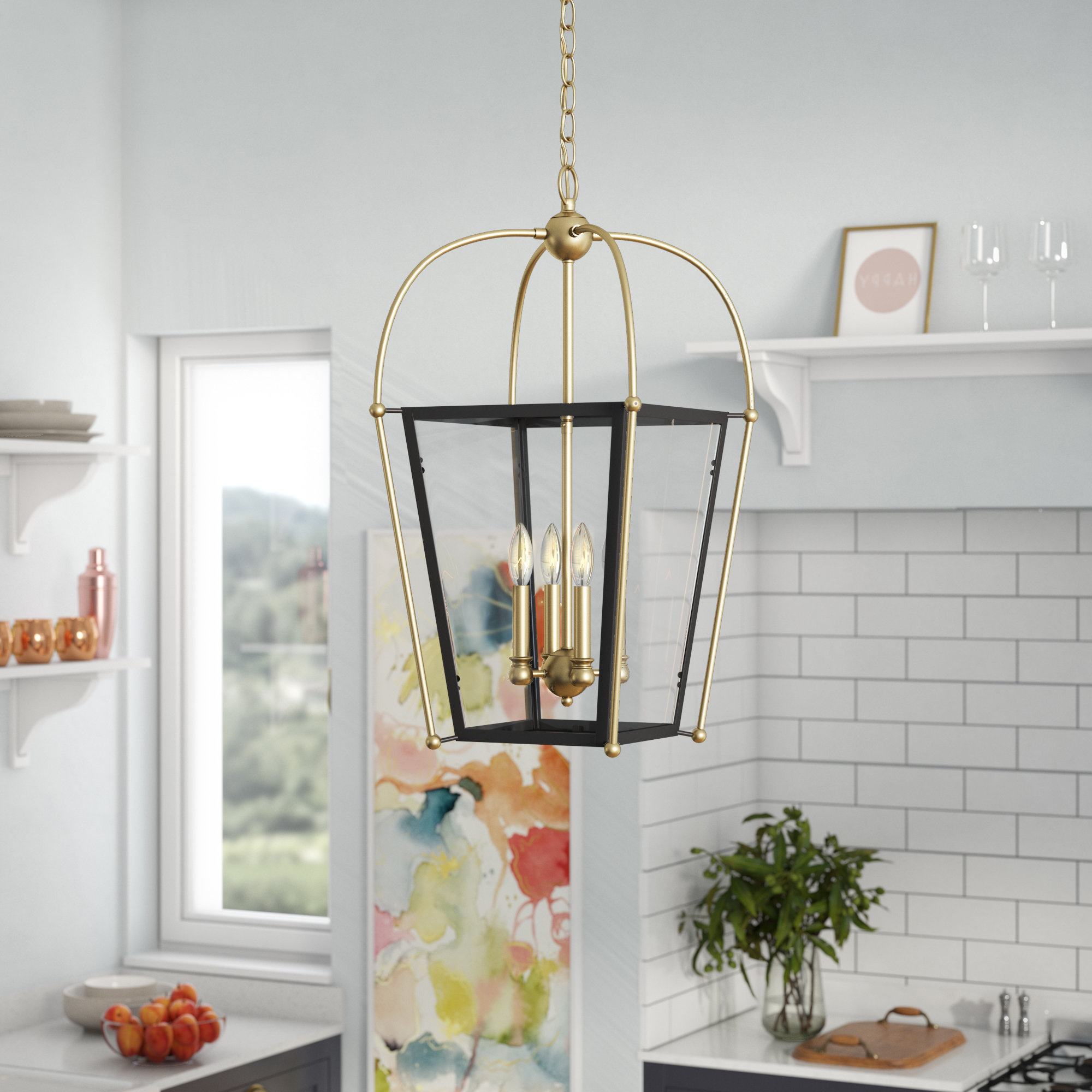 Trendy Hedstrom 4 Light Foyer Lantern Pendant In Finnick 4 Light Foyer Pendants (View 6 of 20)