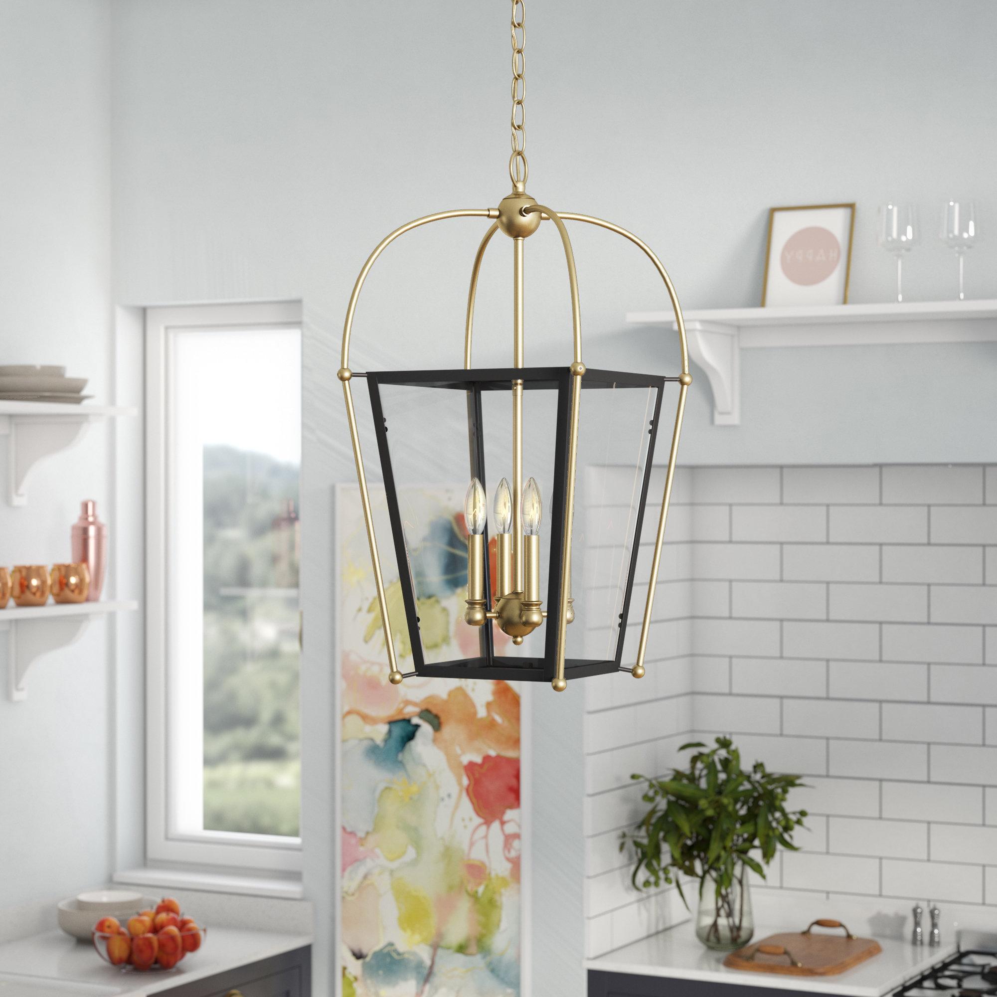 Trendy Hedstrom 4 Light Foyer Lantern Pendant In Finnick 4 Light Foyer Pendants (View 18 of 20)