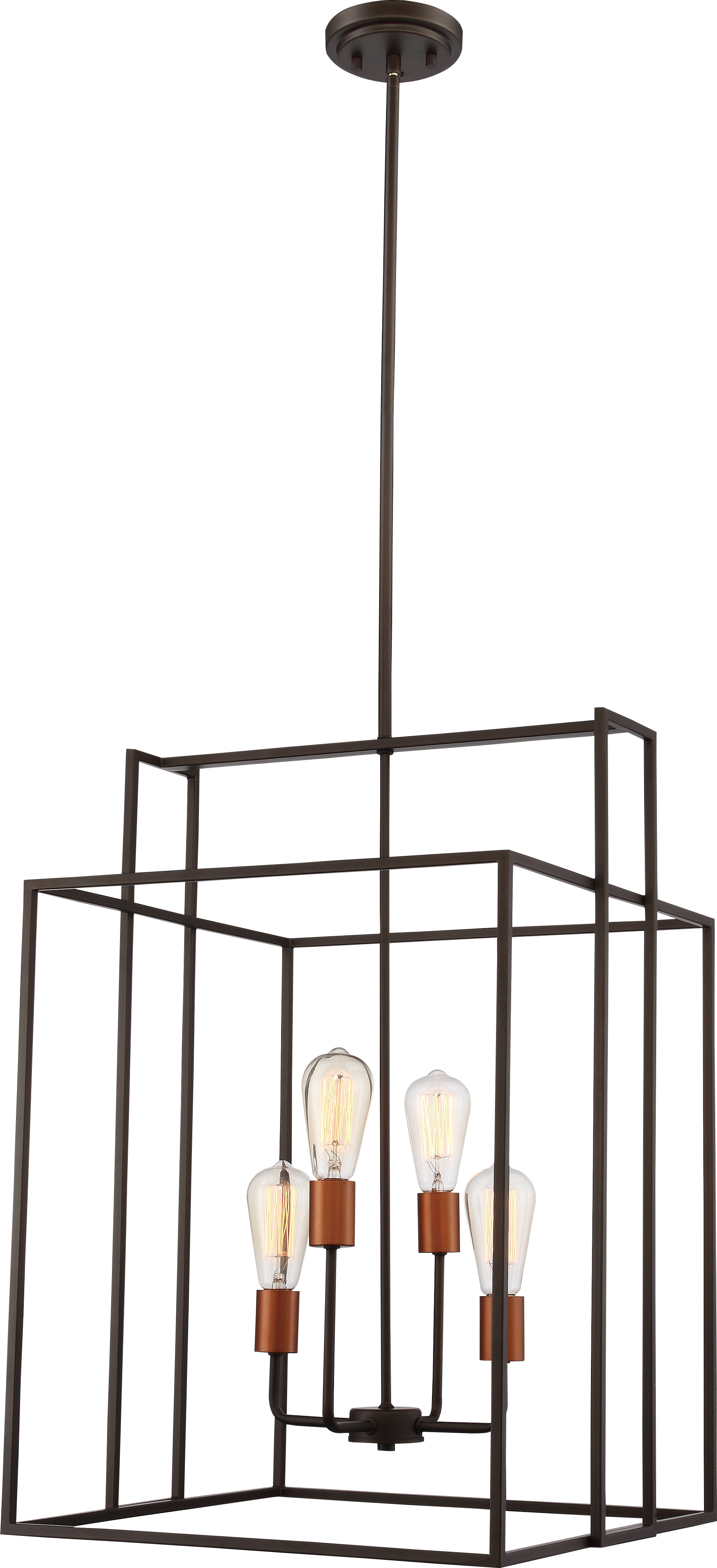 Trendy Jefferson 4 Light Square/rectangle Chandelier Intended For Jefferson 4 Light Kitchen Island Linear Pendants (View 19 of 20)