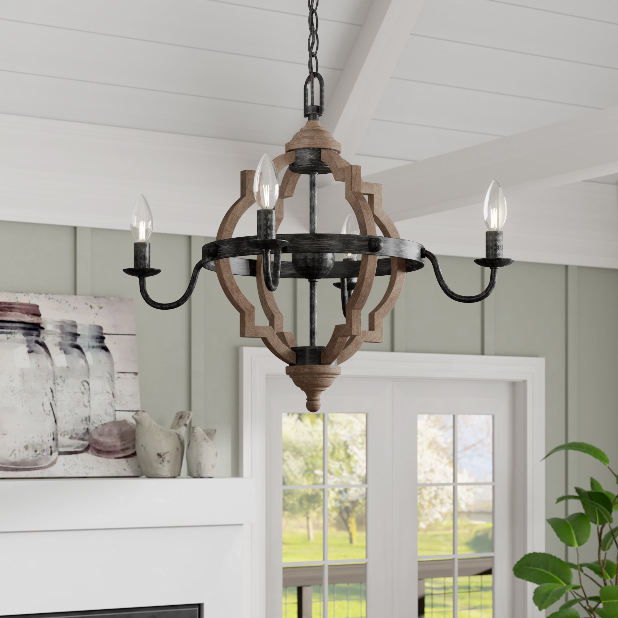 Trendy Laurel Foundry Modern Farmhouse Donna 4 Light Candle Style Inside Donna 4 Light Globe Chandeliers (View 3 of 20)